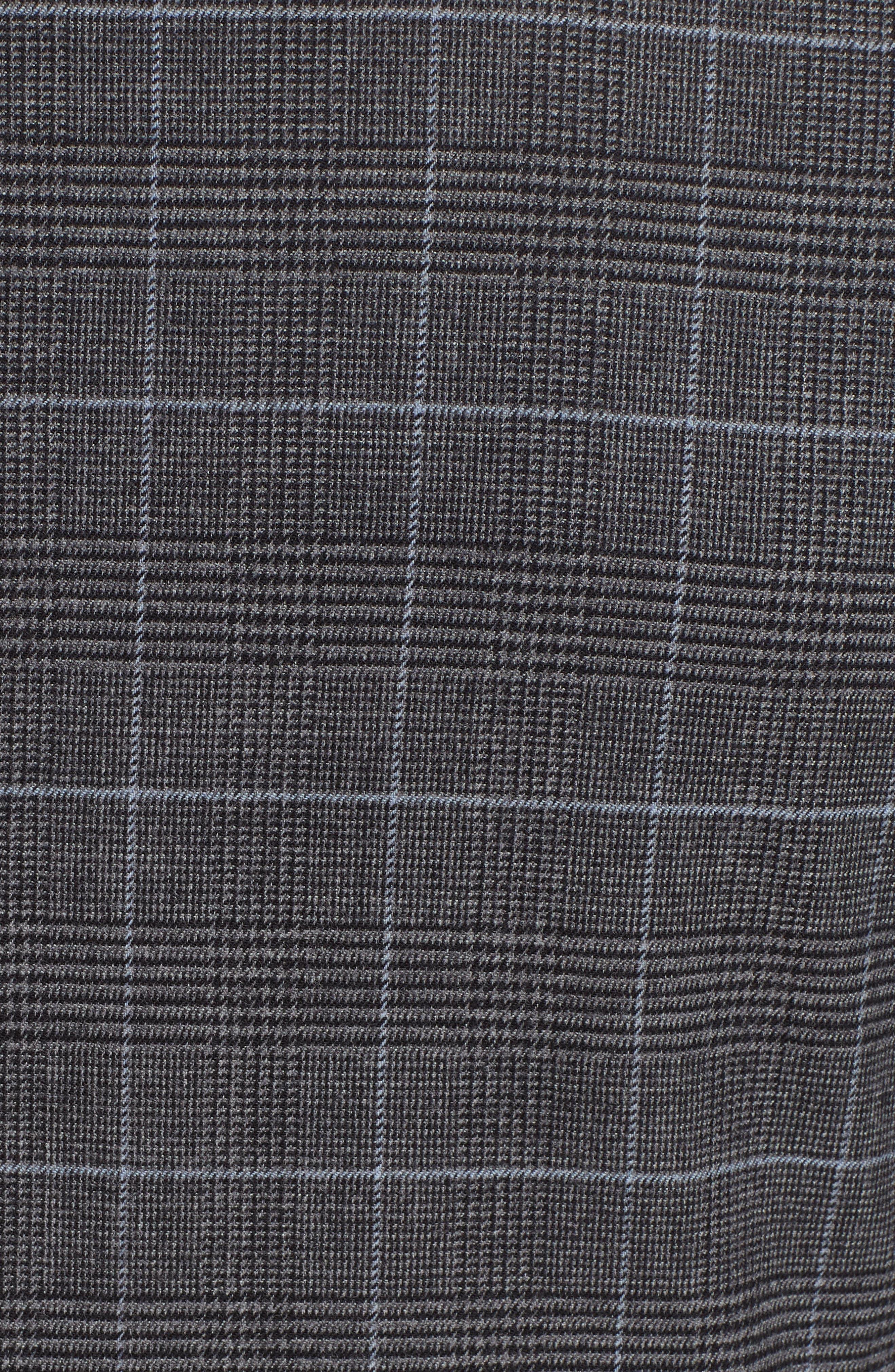 Trim Fit Stretch Plaid Wool Sport Coat,                             Alternate thumbnail 6, color,                             GREY