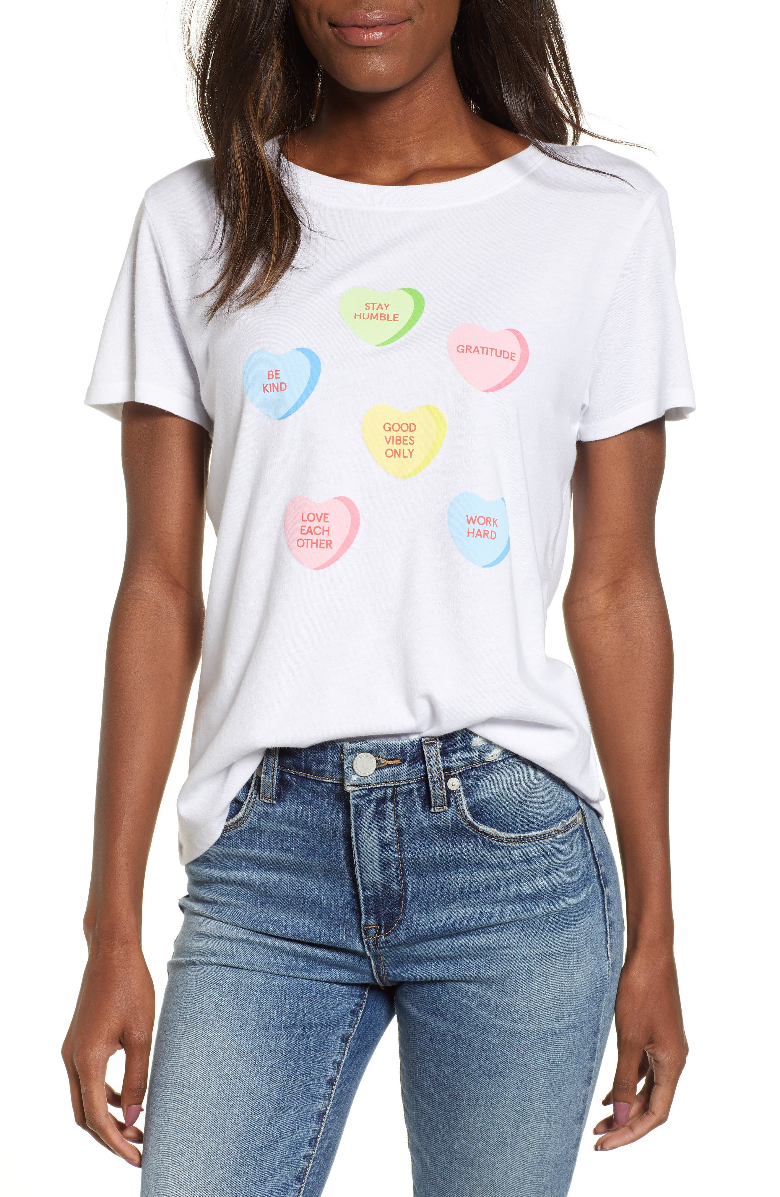 SUB_URBAN RIOT,                             Candy Hearts Slouch Tee,                             Main thumbnail 1, color,                             100