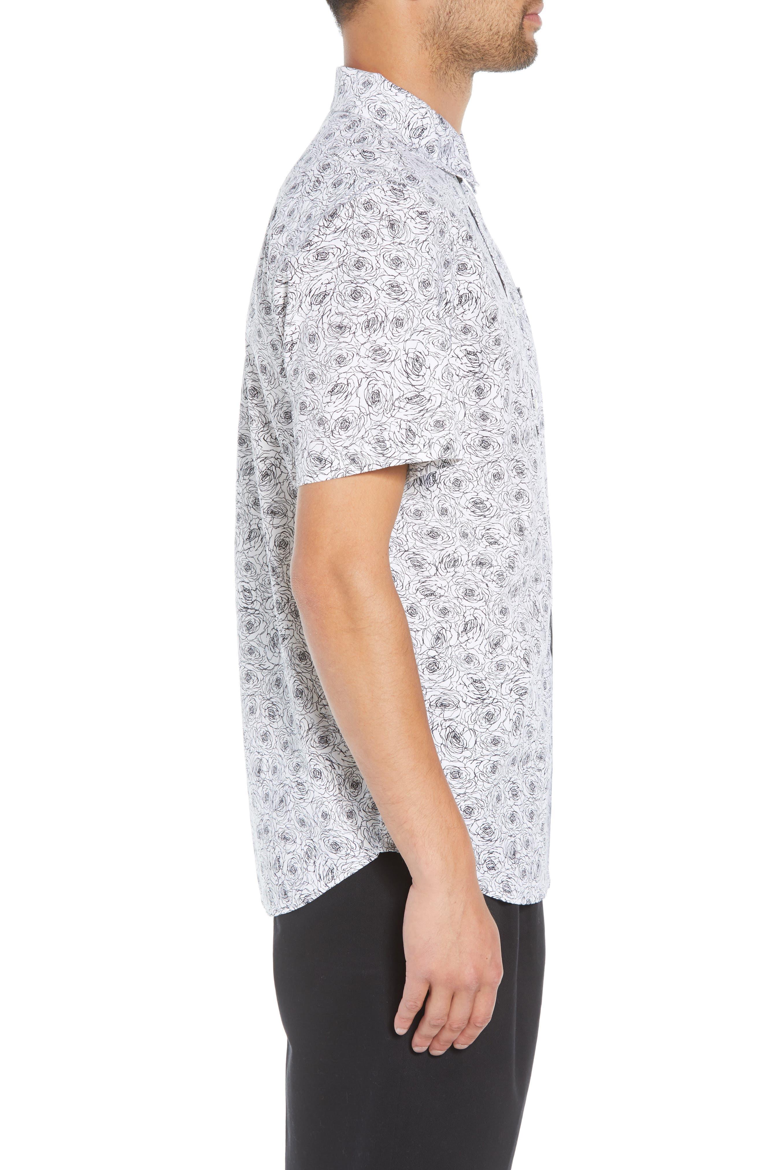 Rosie Print Woven Shirt,                             Alternate thumbnail 4, color,                             WHITE MULTI