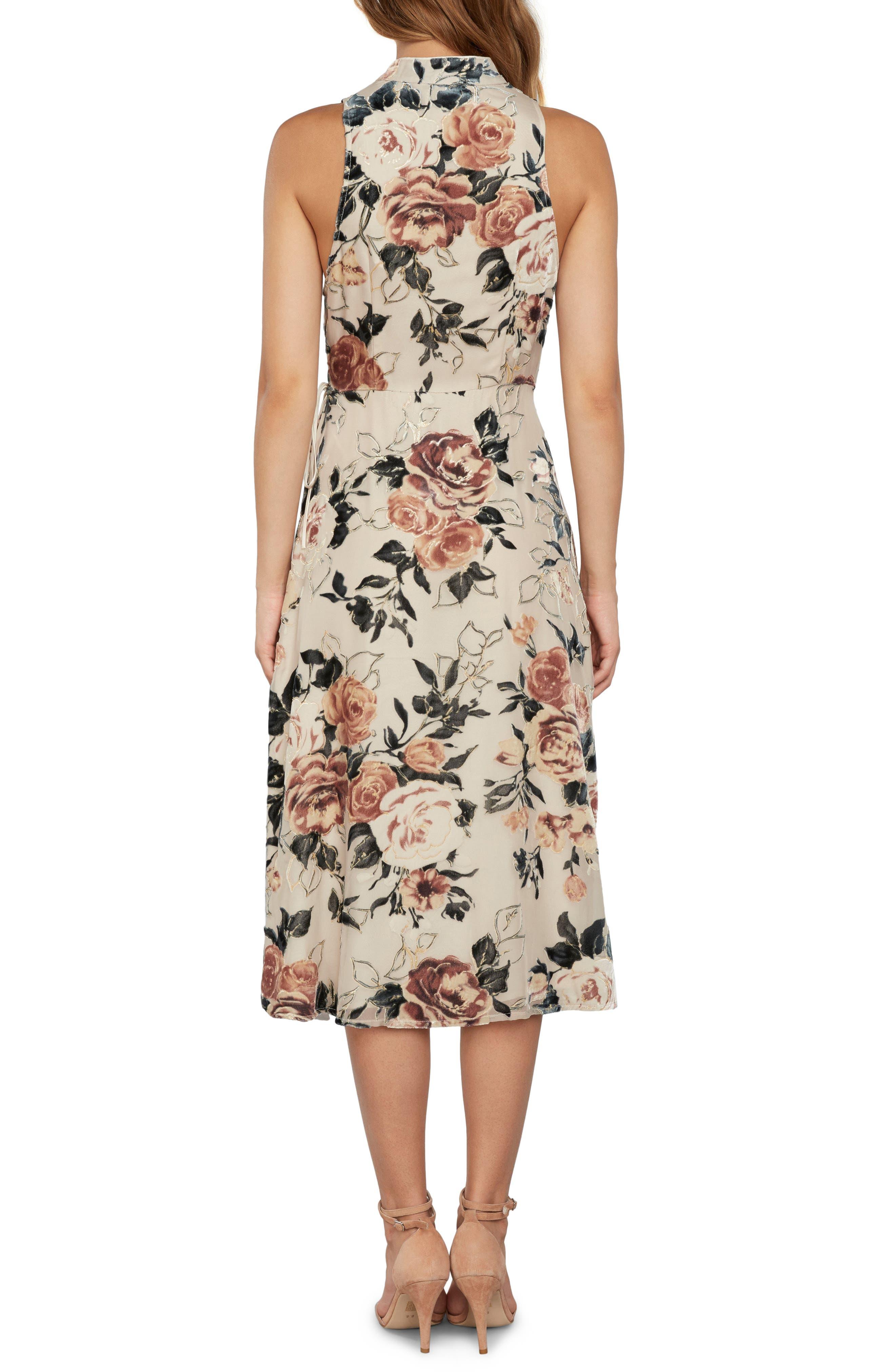 Wrap Midi Dress,                             Alternate thumbnail 2, color,                             901