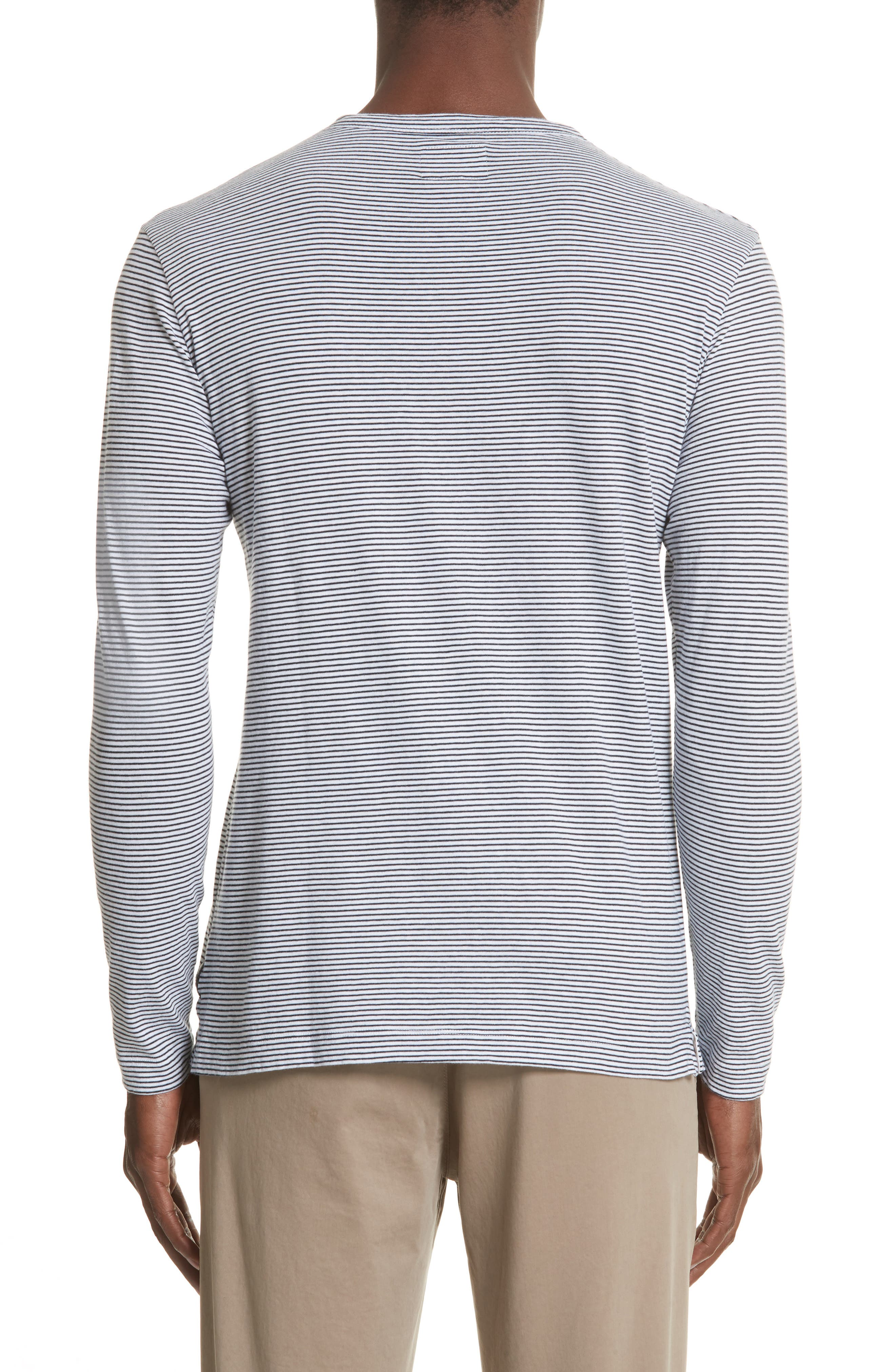 Stripe Long Sleeve T-Shirt,                             Alternate thumbnail 2, color,                             NAVY