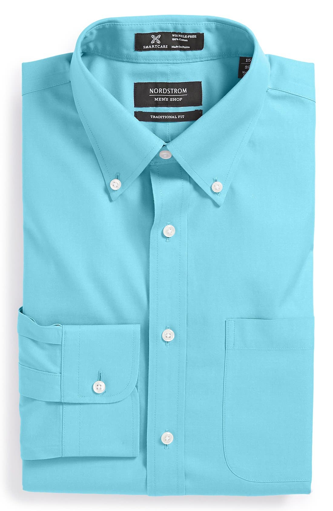 Smartcare<sup>™</sup> Traditional Fit Pinpoint Dress Shirt,                             Main thumbnail 21, color,