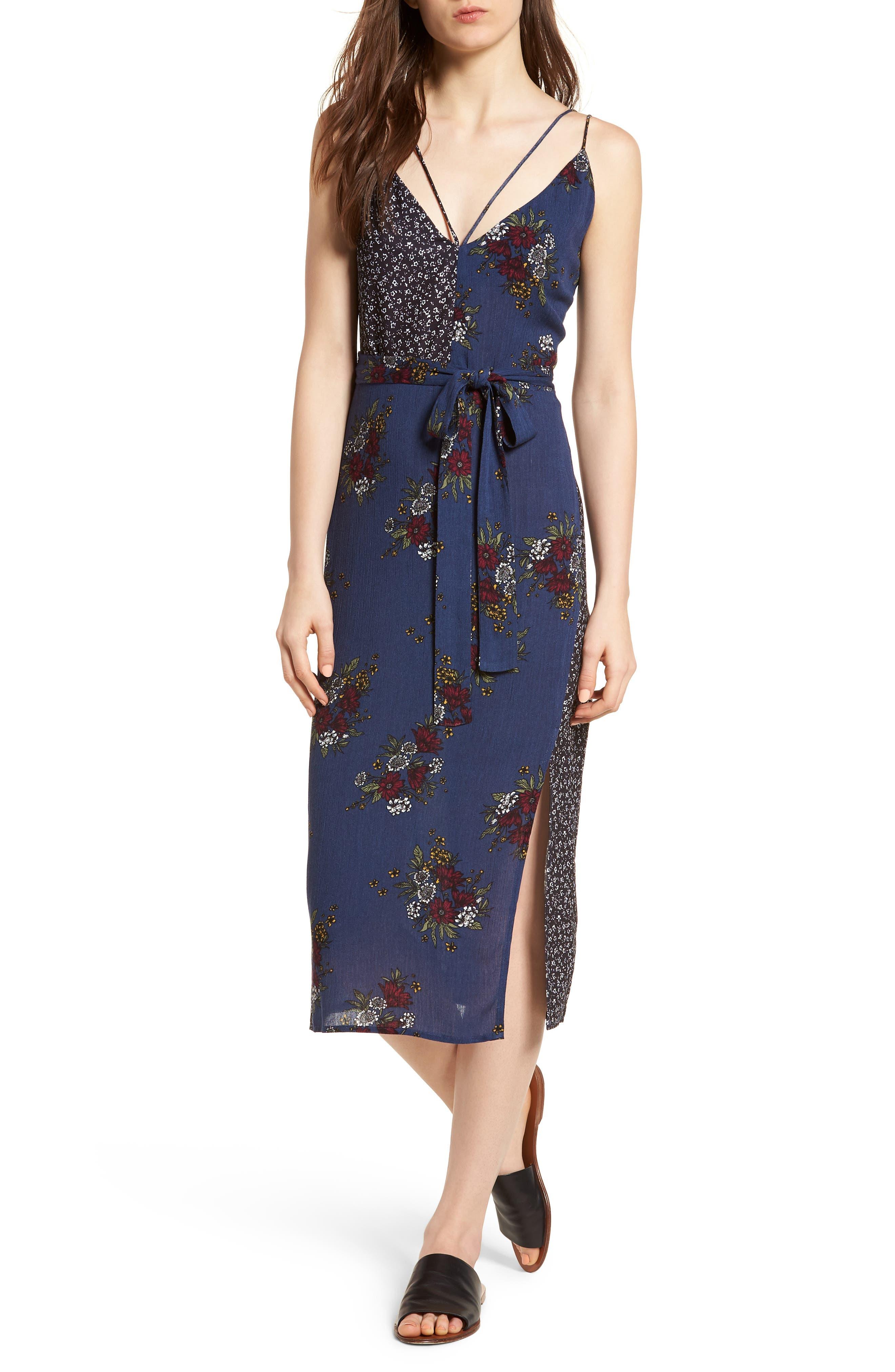 See Me Print Midi Dress,                             Main thumbnail 1, color,                             400