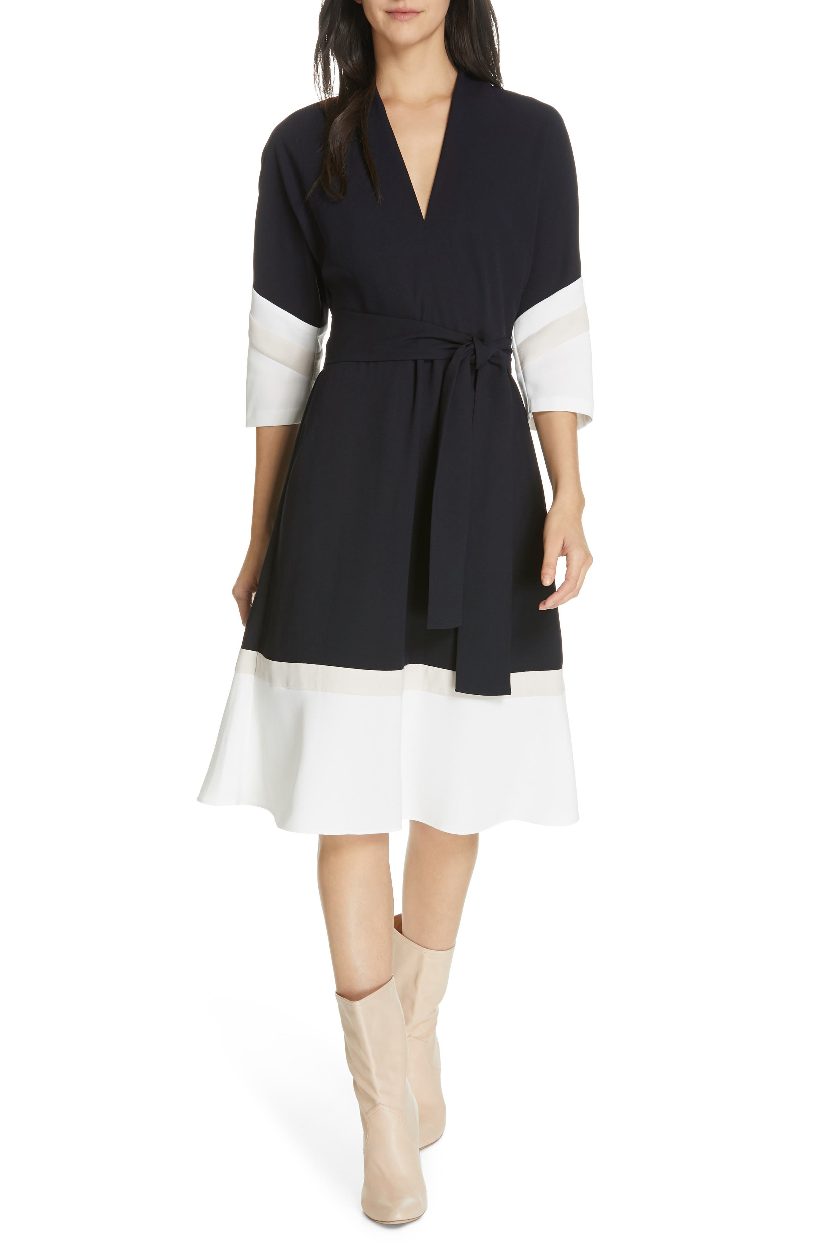 Joie Aydrien Colorblock Dress, White