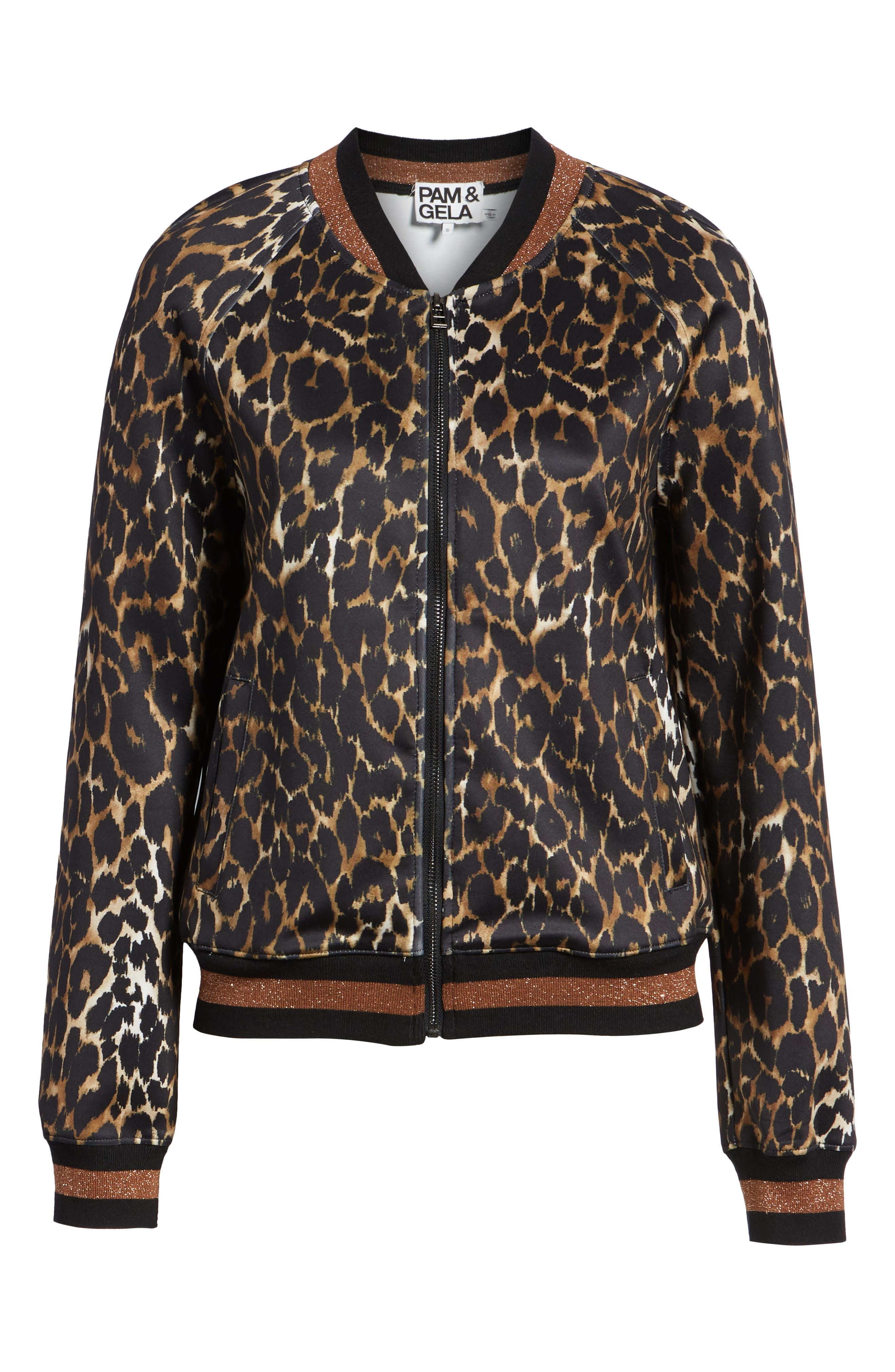 Leopard Track Jacket,                             Alternate thumbnail 6, color,                             234