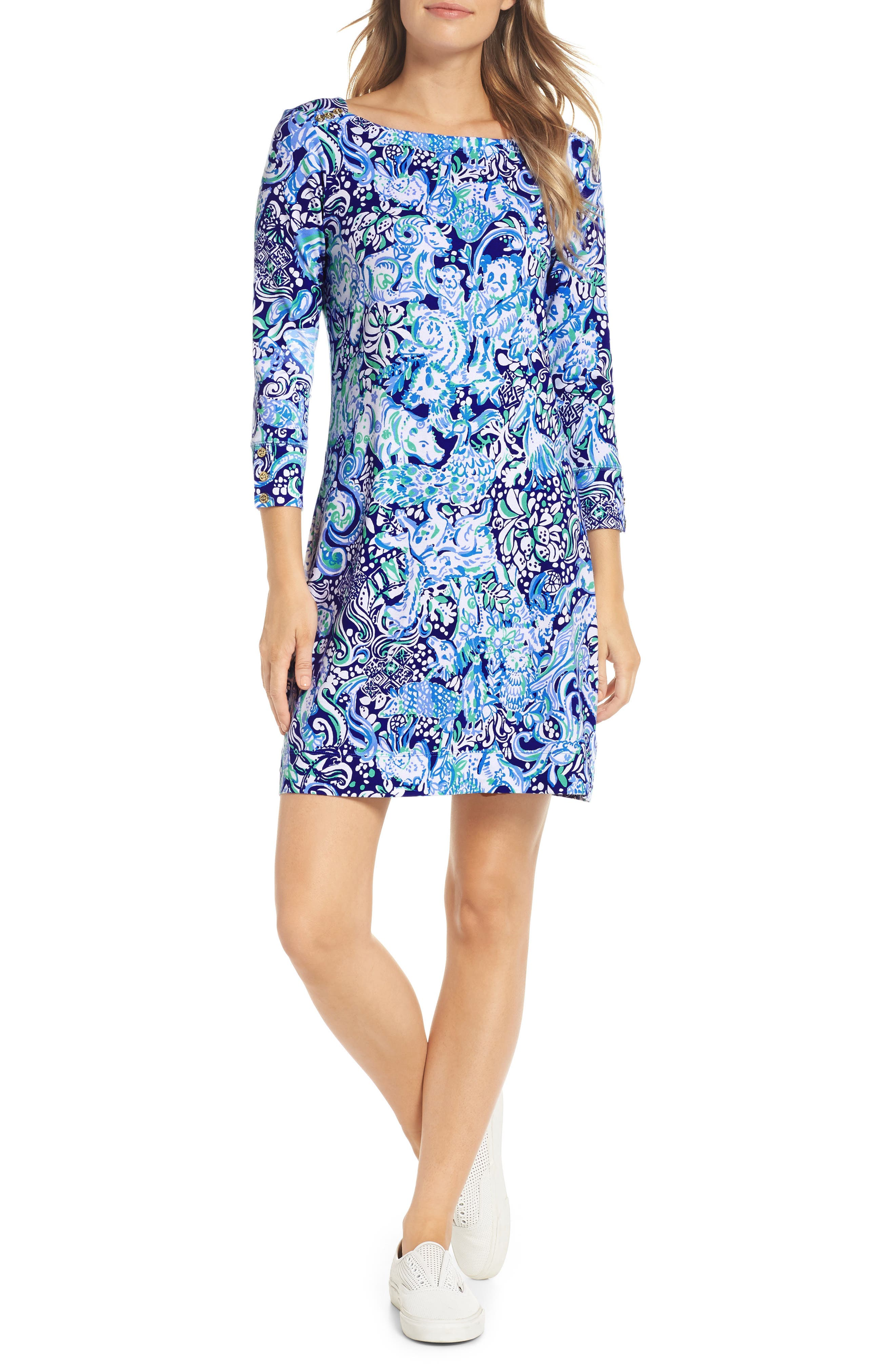 Lilly Pulitzer Sophie Upf 50+ Boat Neck Dress, Purple
