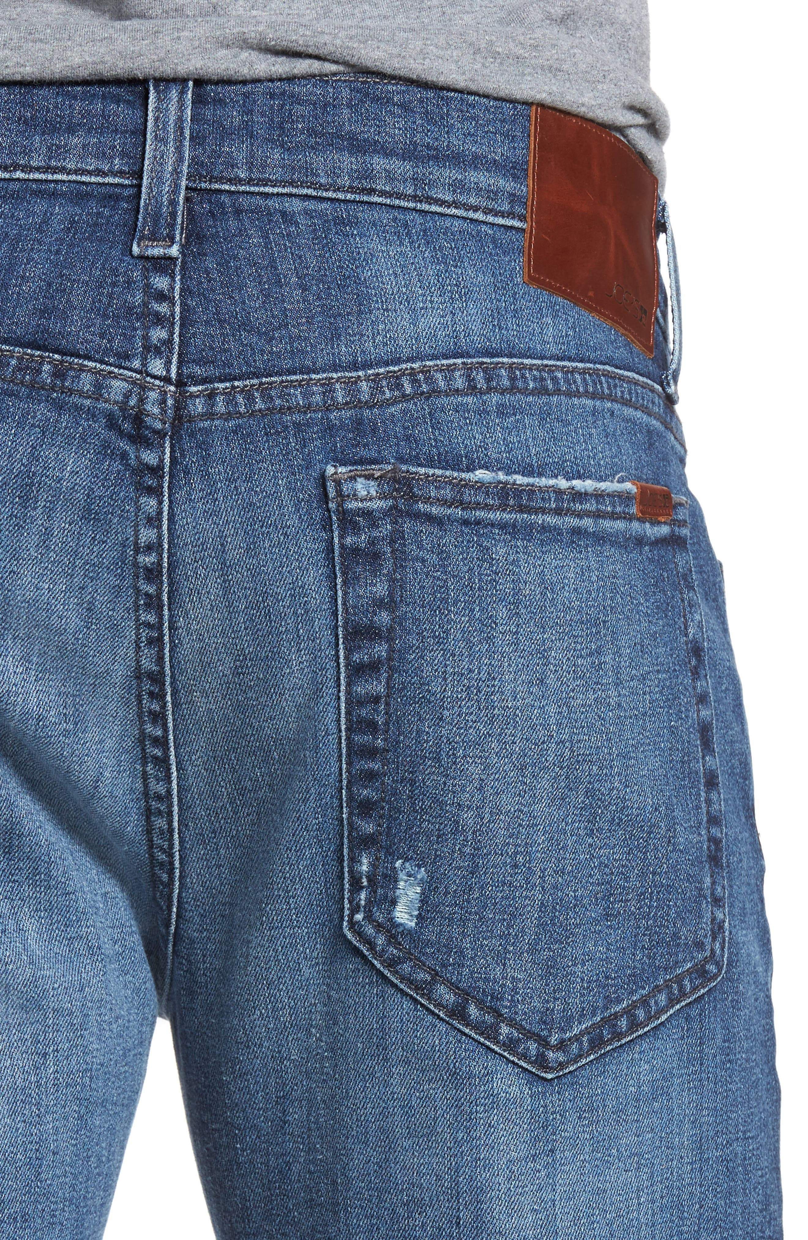Brixton Slim Straight Leg Jeans,                             Alternate thumbnail 4, color,                             410