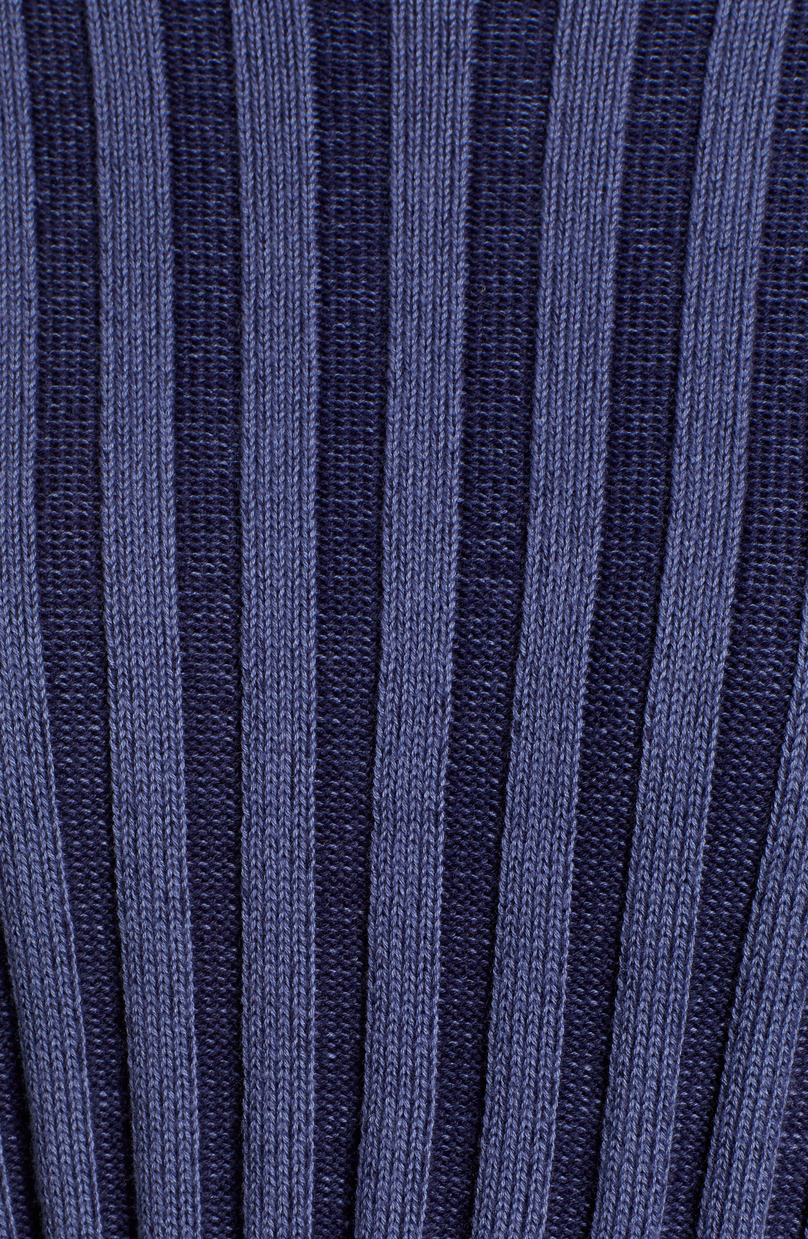 Shadow Rib Crop Sweater,                             Alternate thumbnail 6, color,                             NAVY EVENING
