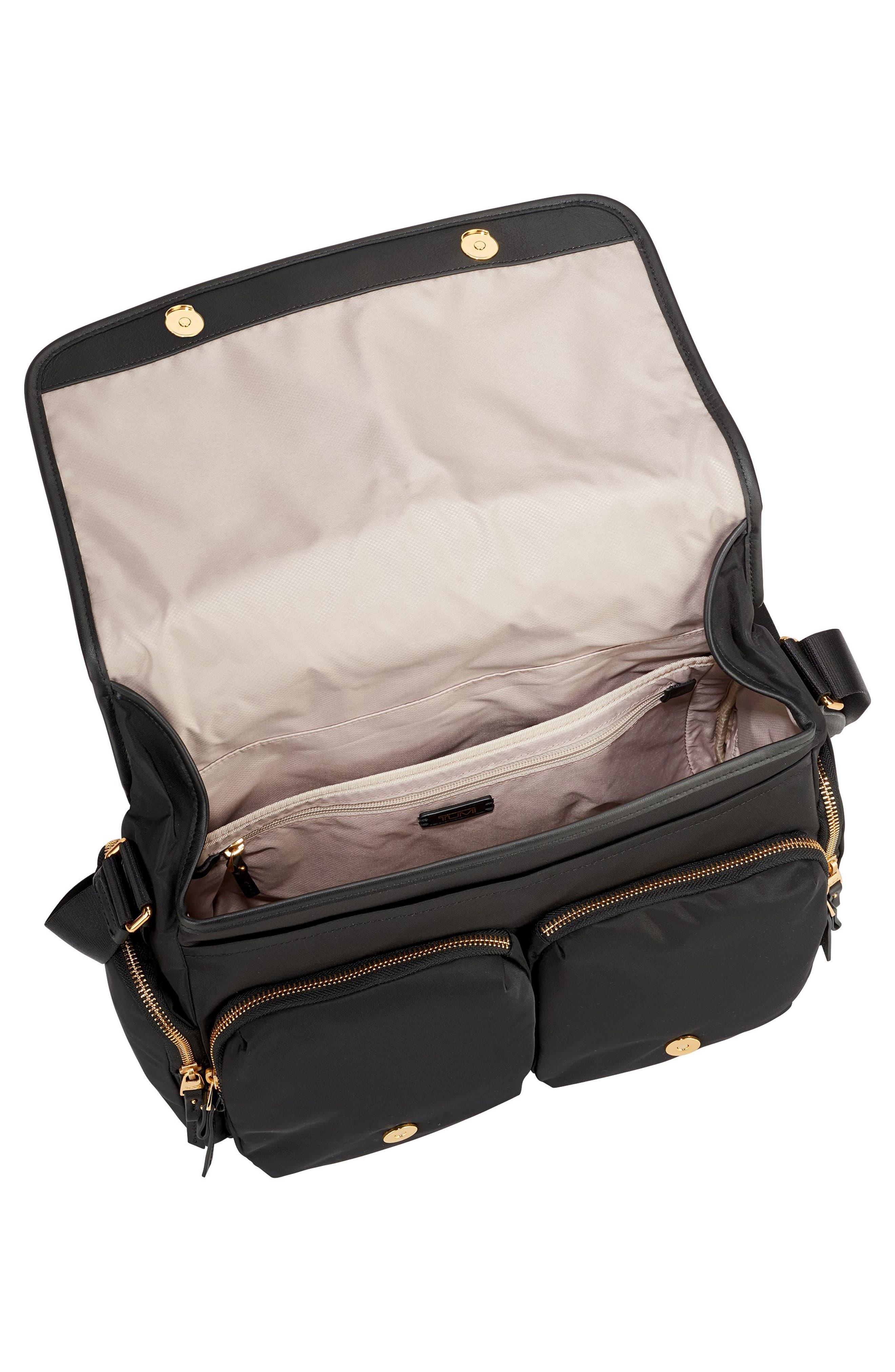 Lola Nylon Crossbody Bag,                             Alternate thumbnail 3, color,                             001