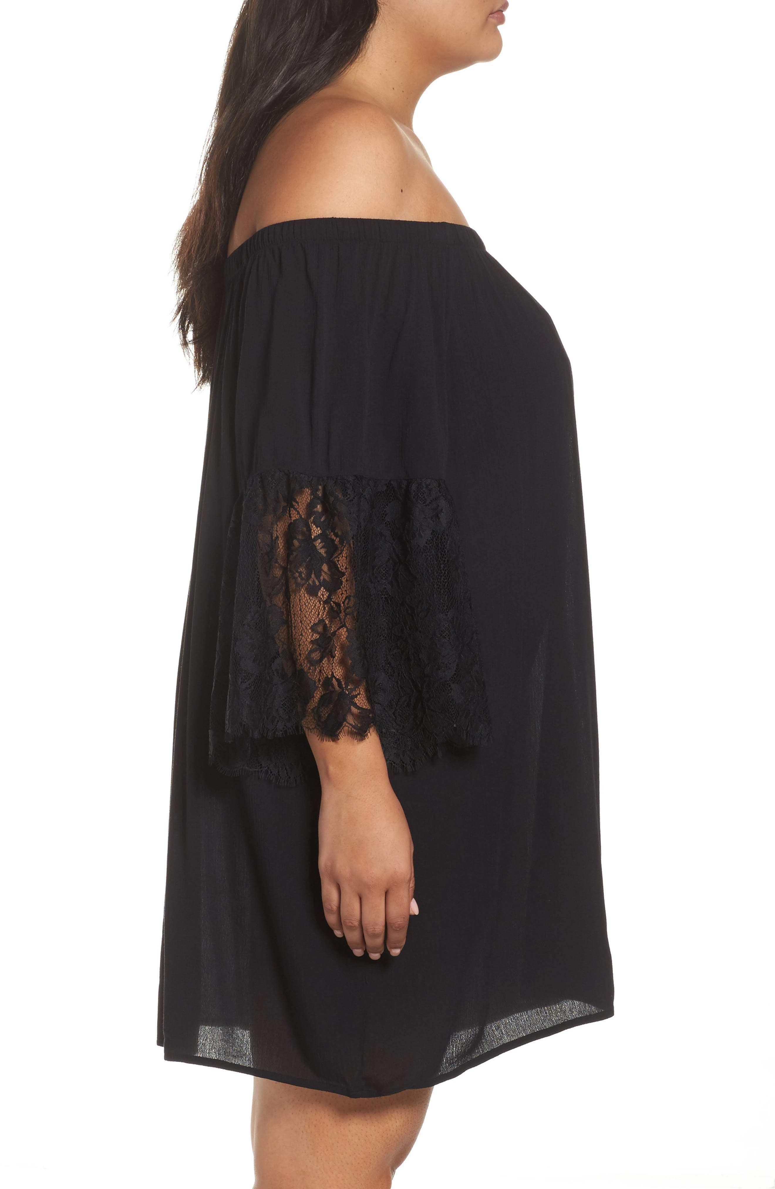 Off the Shoulder Cover-Up,                             Alternate thumbnail 5, color,