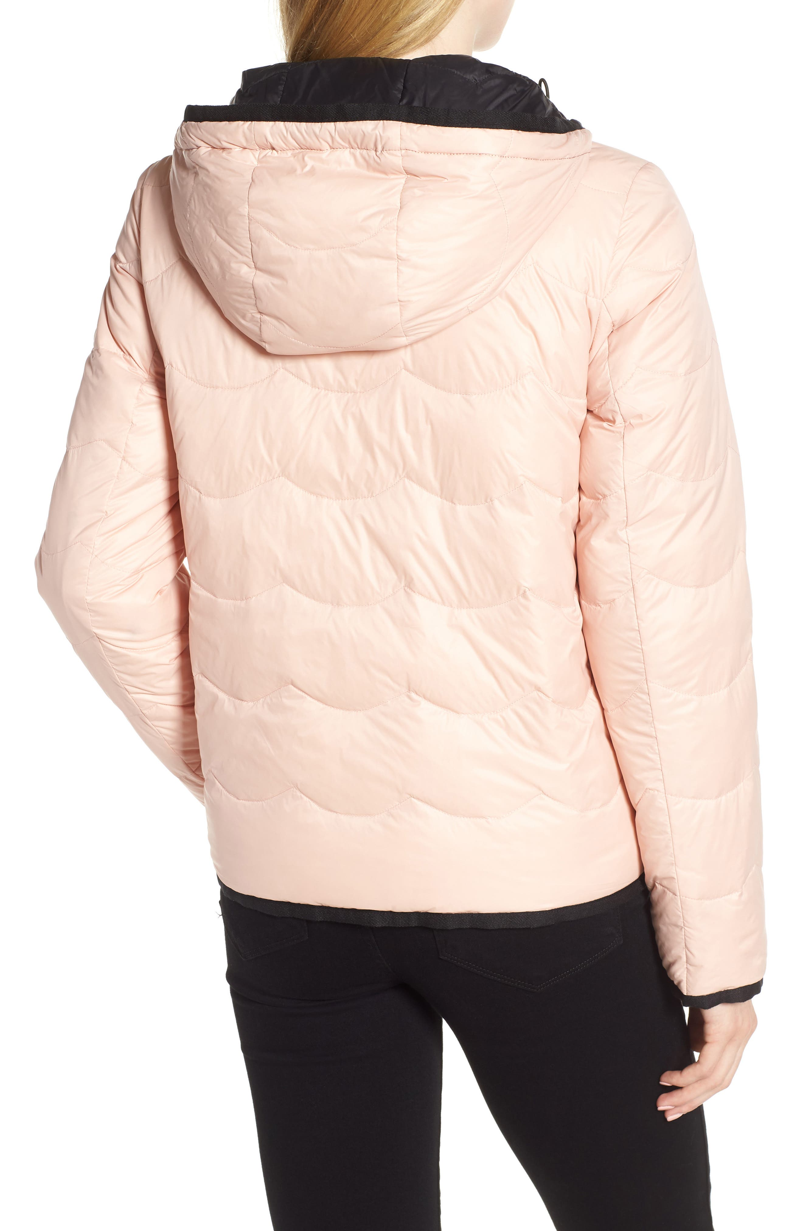 reversible quilted down jacket,                             Alternate thumbnail 3, color,                             001