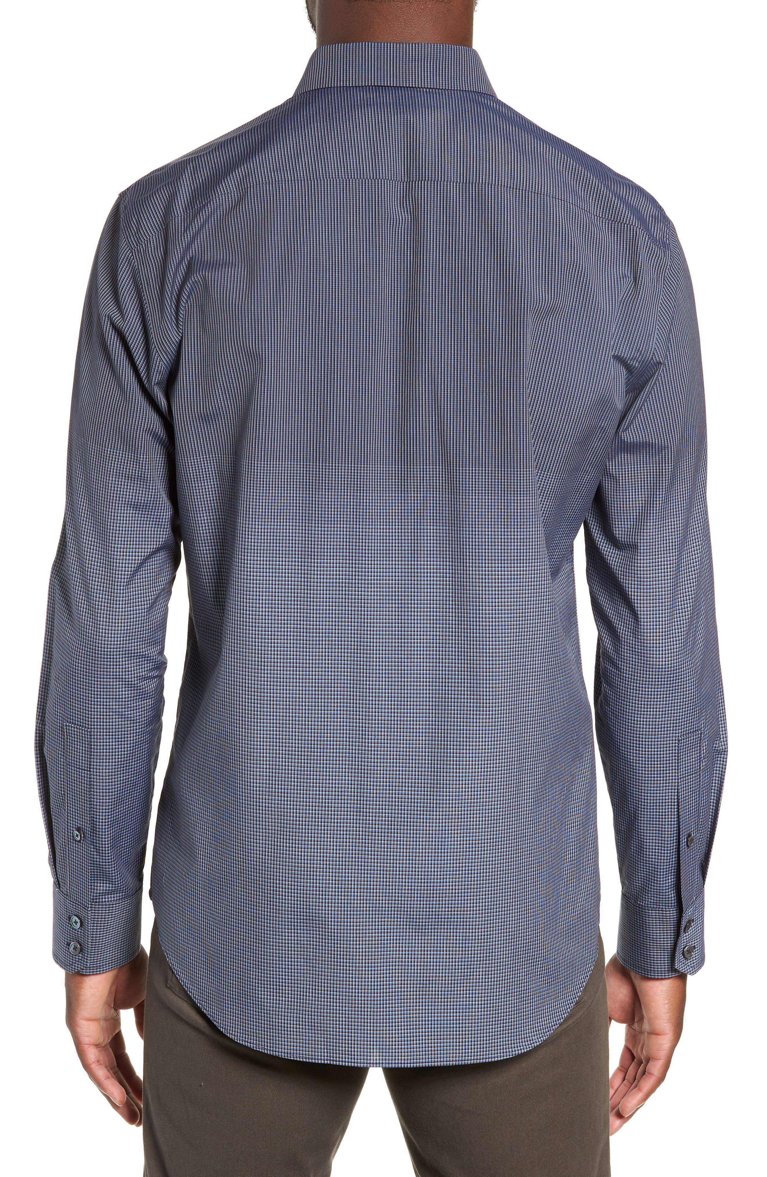 Hong Regular Fit Sport Shirt,                             Alternate thumbnail 3, color,                             NAVY