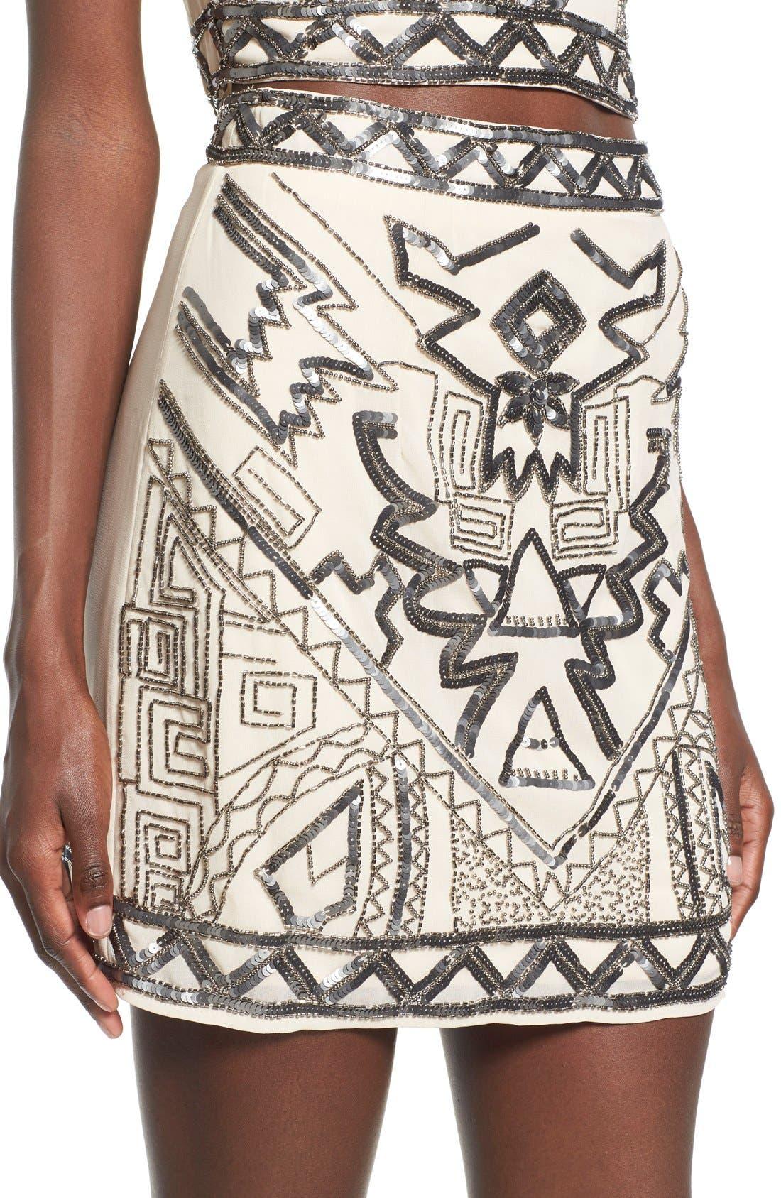 Embellished Miniskirt,                             Alternate thumbnail 6, color,                             270