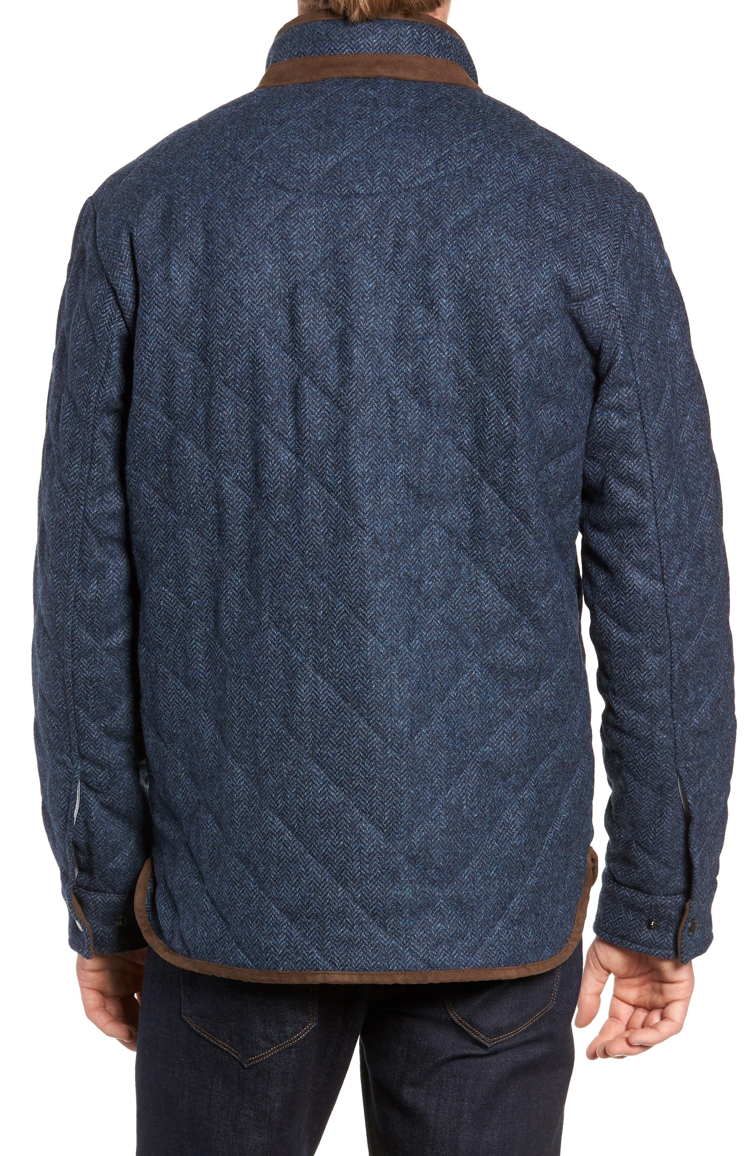 Mountain Quilted Shirt Jacket,                             Alternate thumbnail 2, color,                             ATLANTIC BLUE