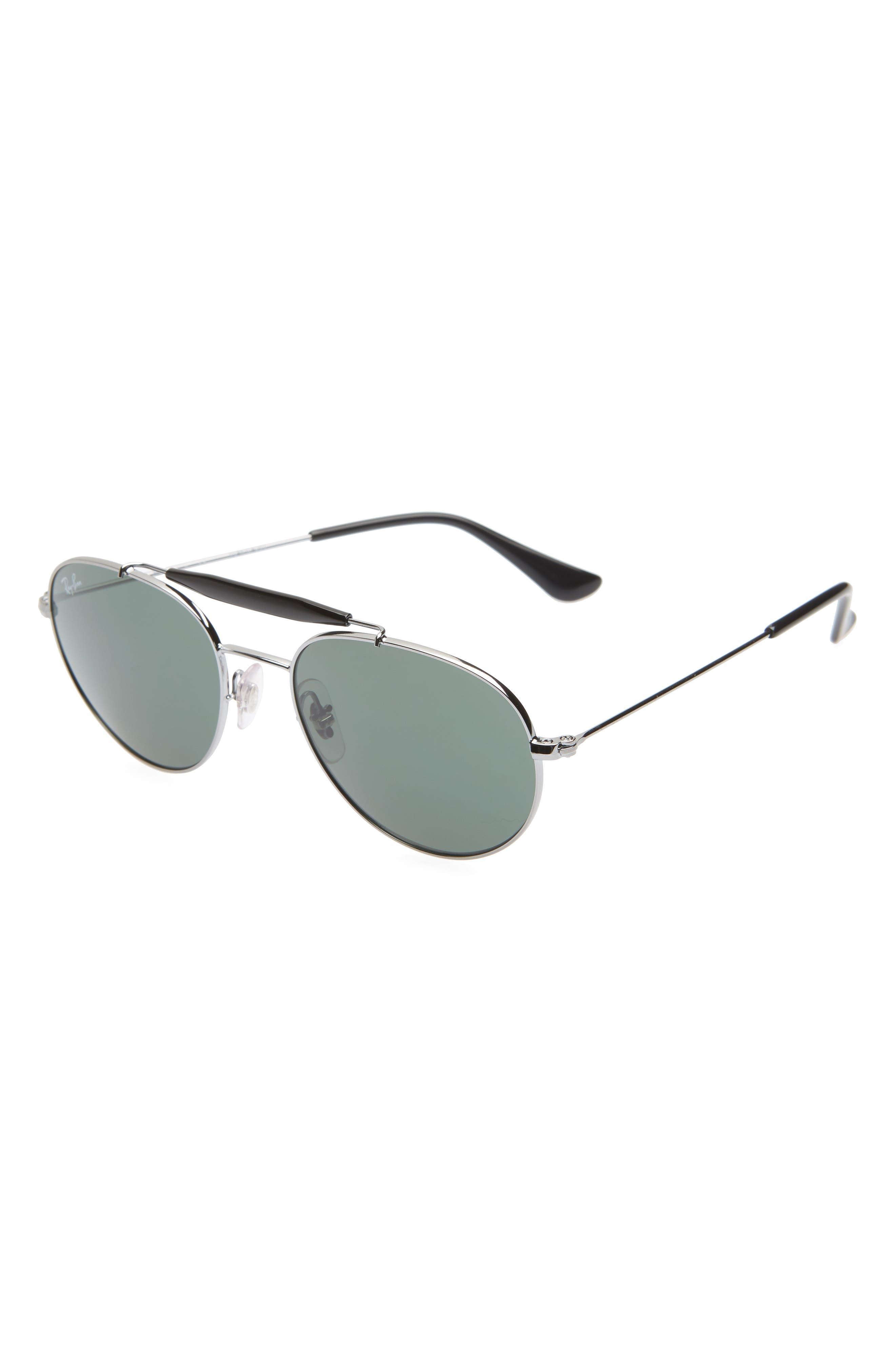 Ray-Ban Junior 50Mm Aviator Sunglasses - Gunmental/ Grey Solid