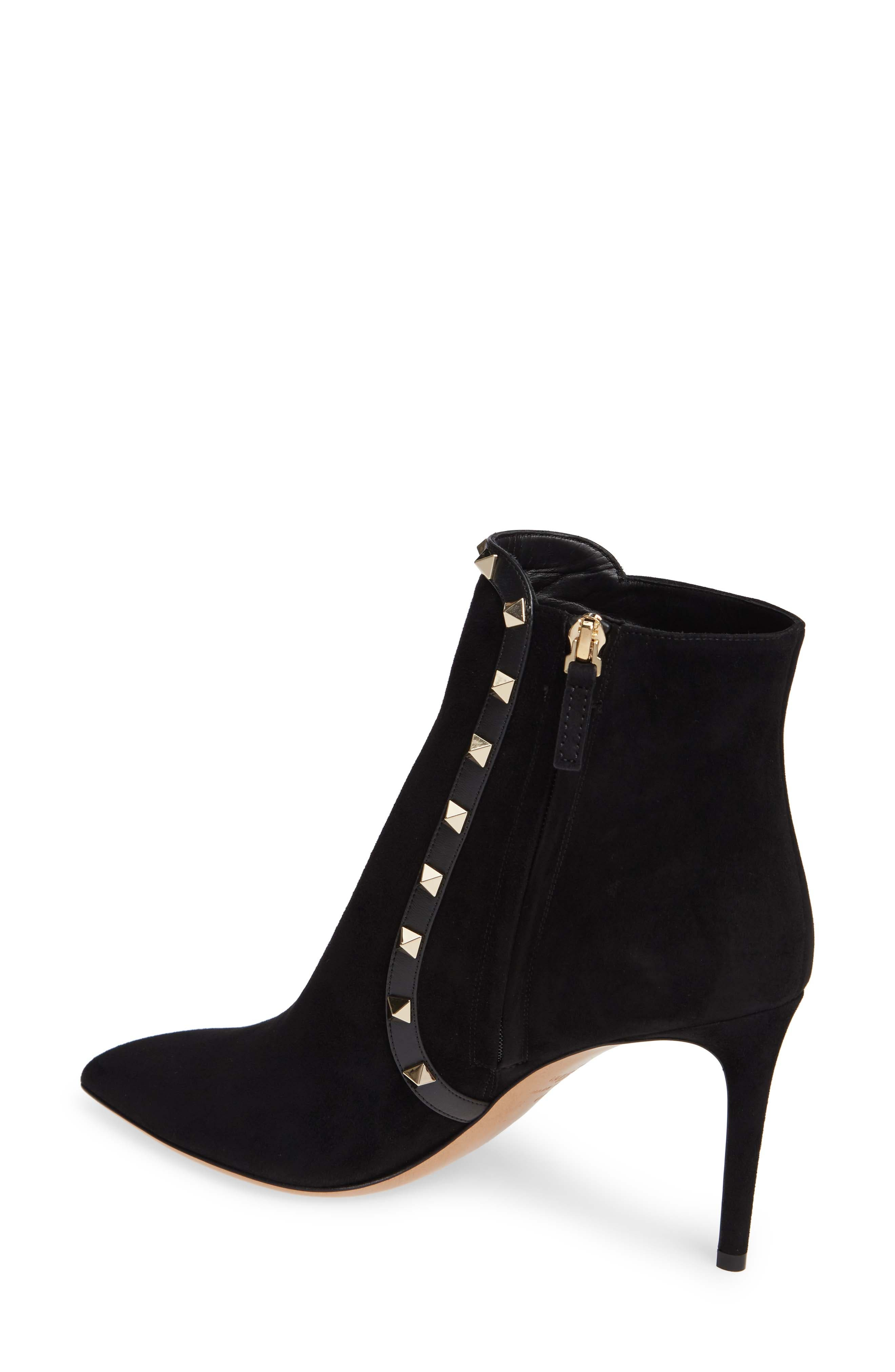VALENTINO GARAVANI,                             Rockstud Bootie,                             Alternate thumbnail 2, color,                             BLACK
