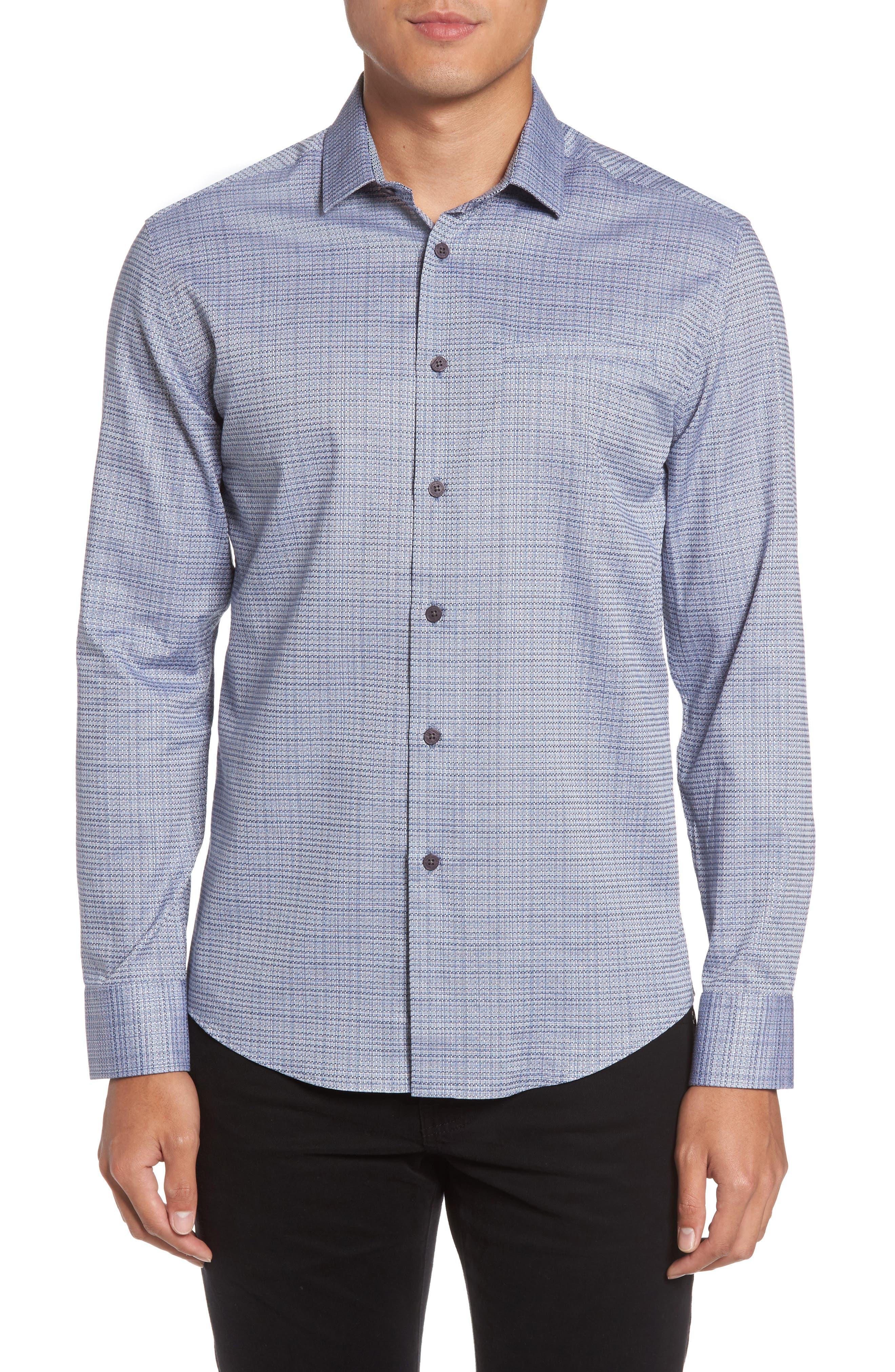 Trim Fit Print Hacking Pocket Sport Shirt,                         Main,                         color, 410