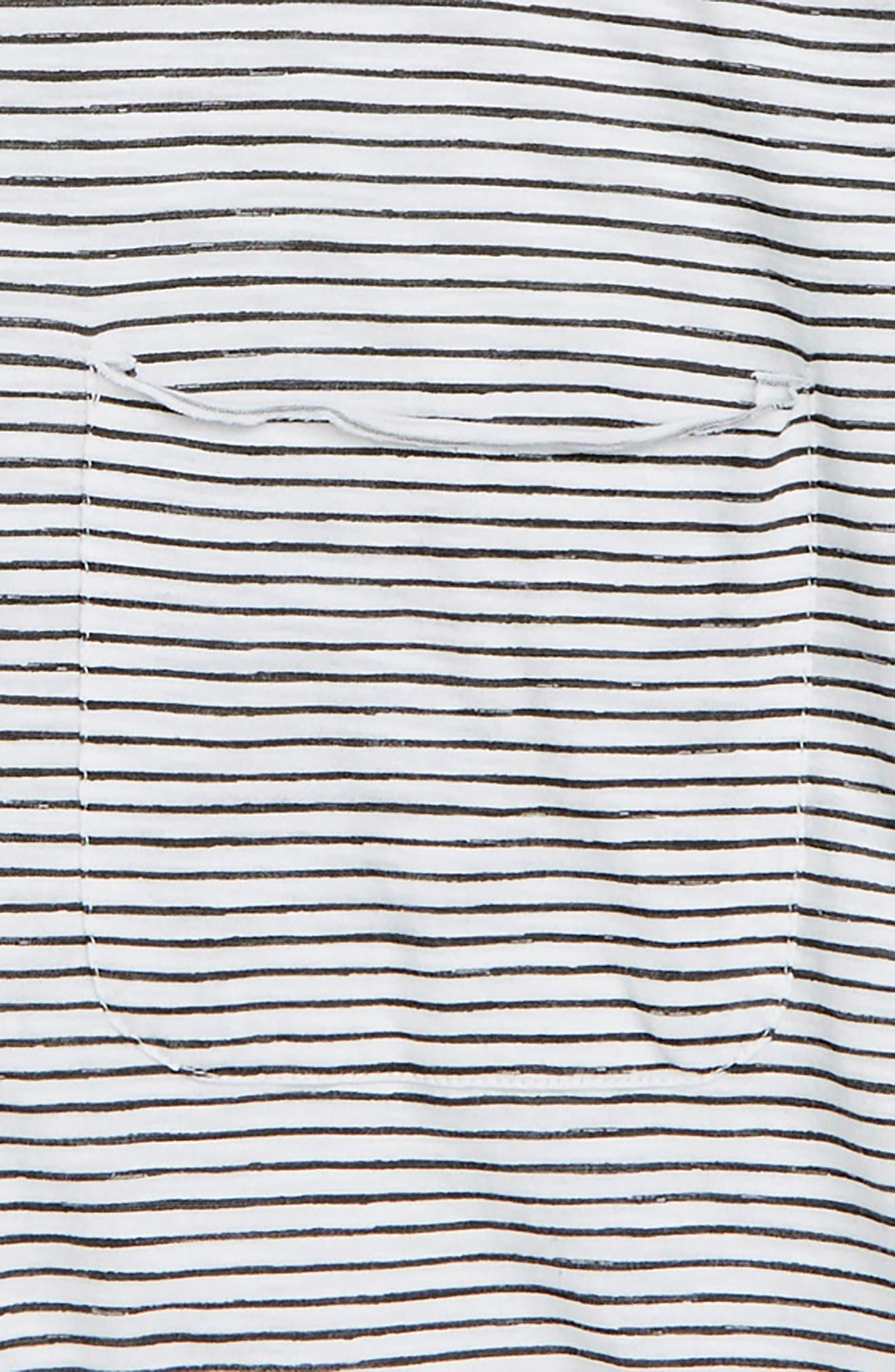 Painted Stripe T-Shirt,                             Alternate thumbnail 2, color,                             WHITE- GREY PAINTED STRIPE