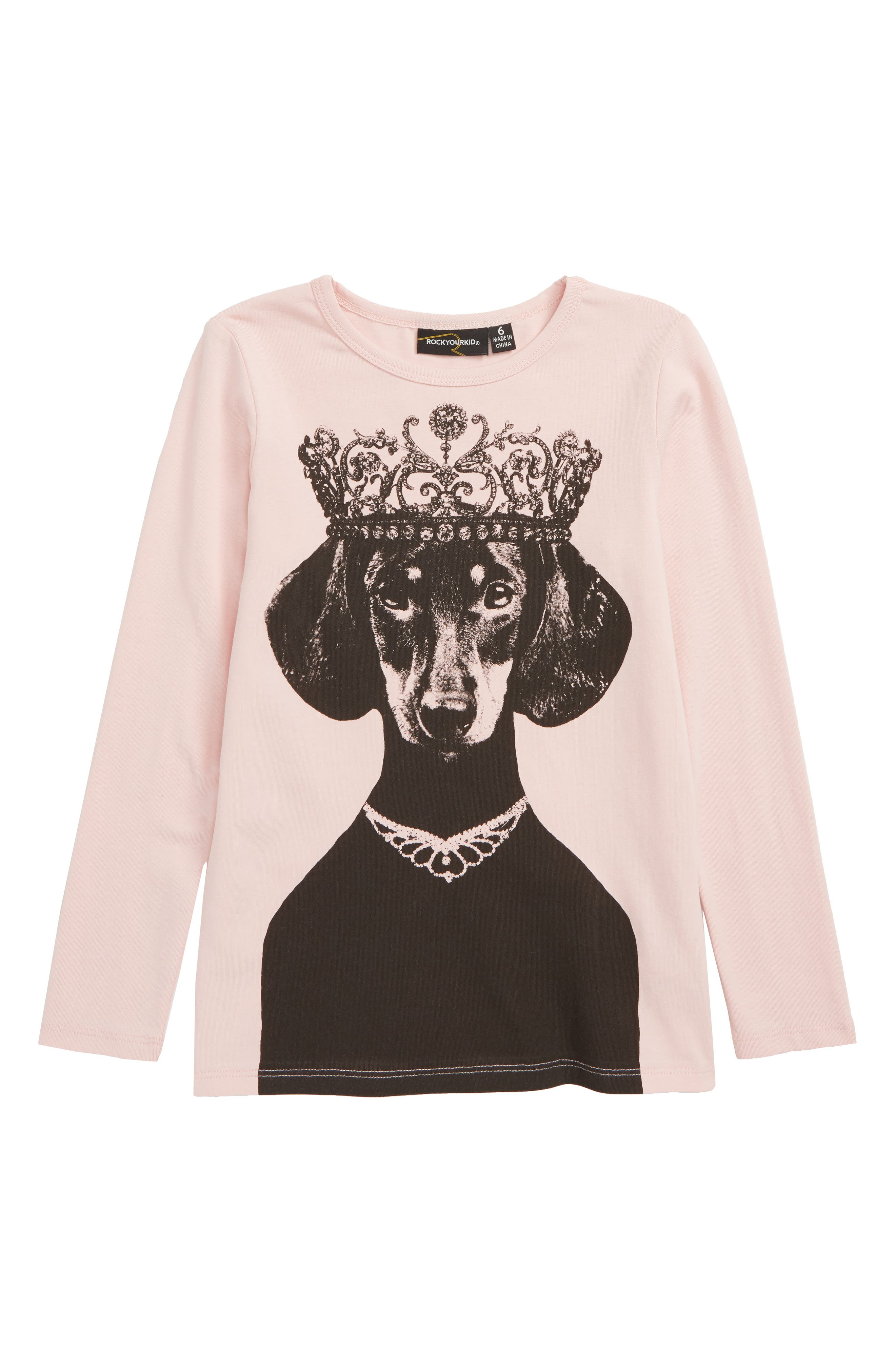 Queenie Long Sleeve Tee,                             Main thumbnail 1, color,                             MUSK PINK