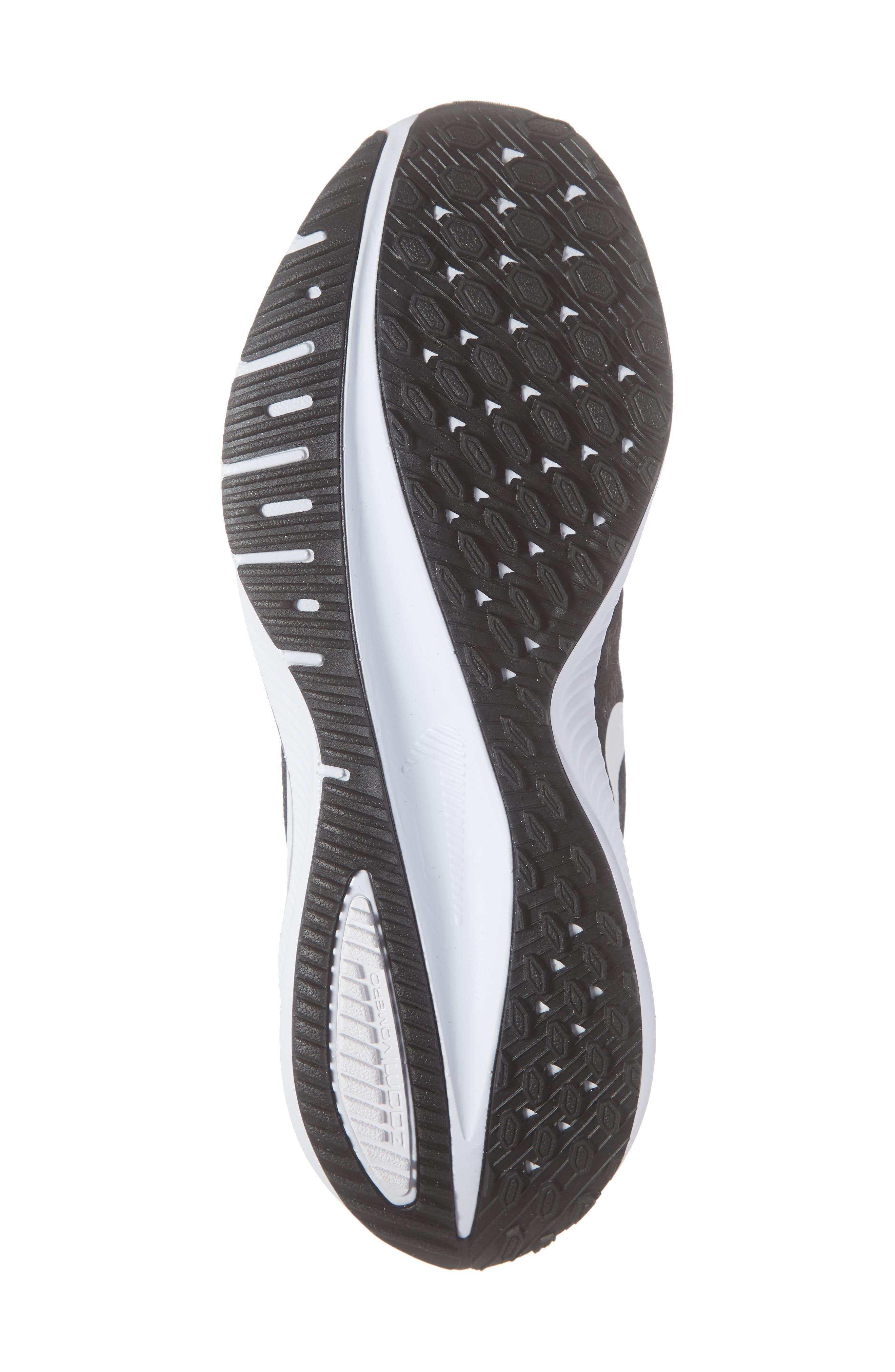 Air Zoom Vomero 14 Running Shoe,                             Alternate thumbnail 6, color,                             BLACK/ WHITE/ THUNDER GREY