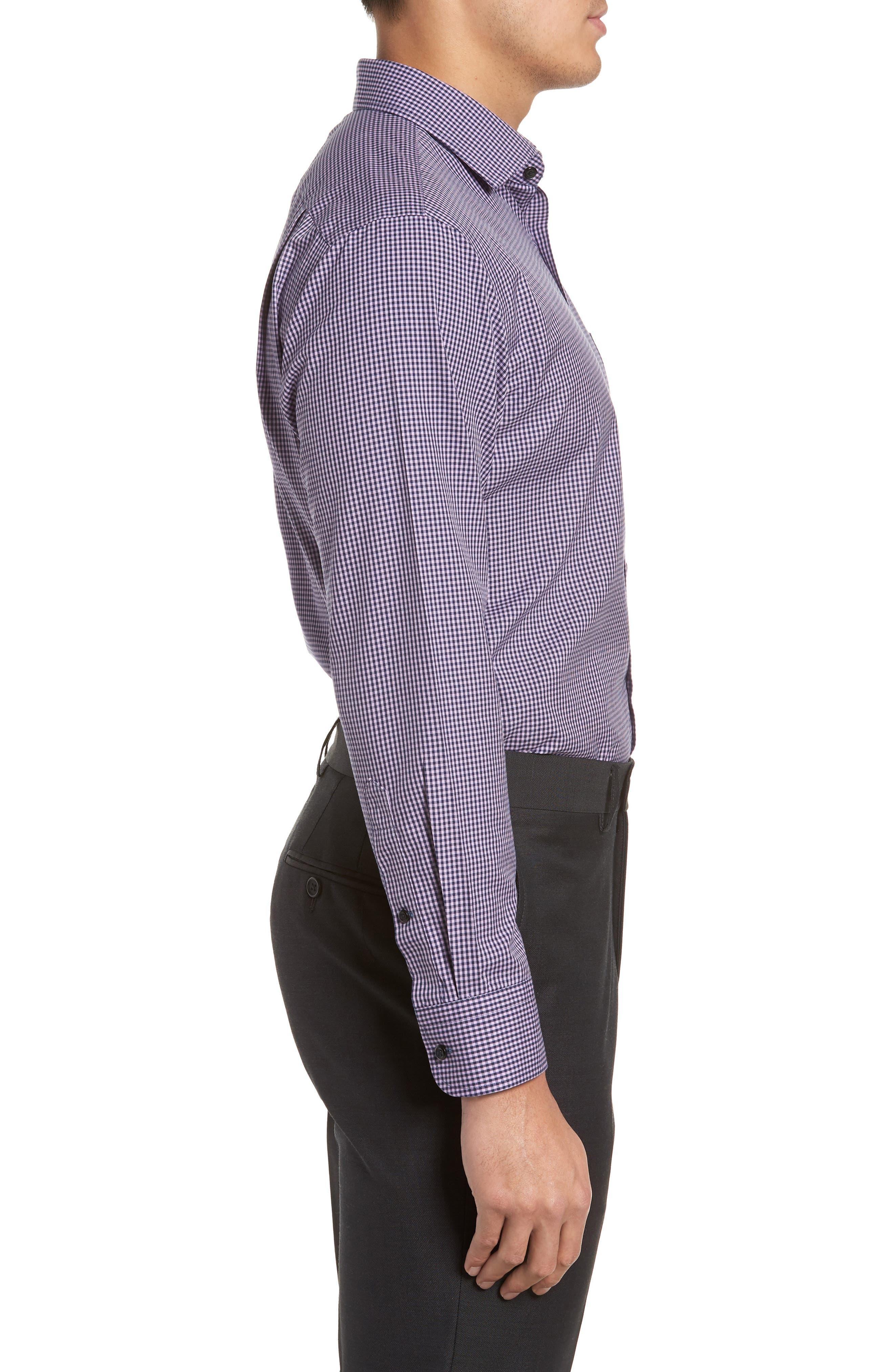 Smartcare<sup>™</sup> Trim Fit Check Dress Shirt,                             Alternate thumbnail 15, color,