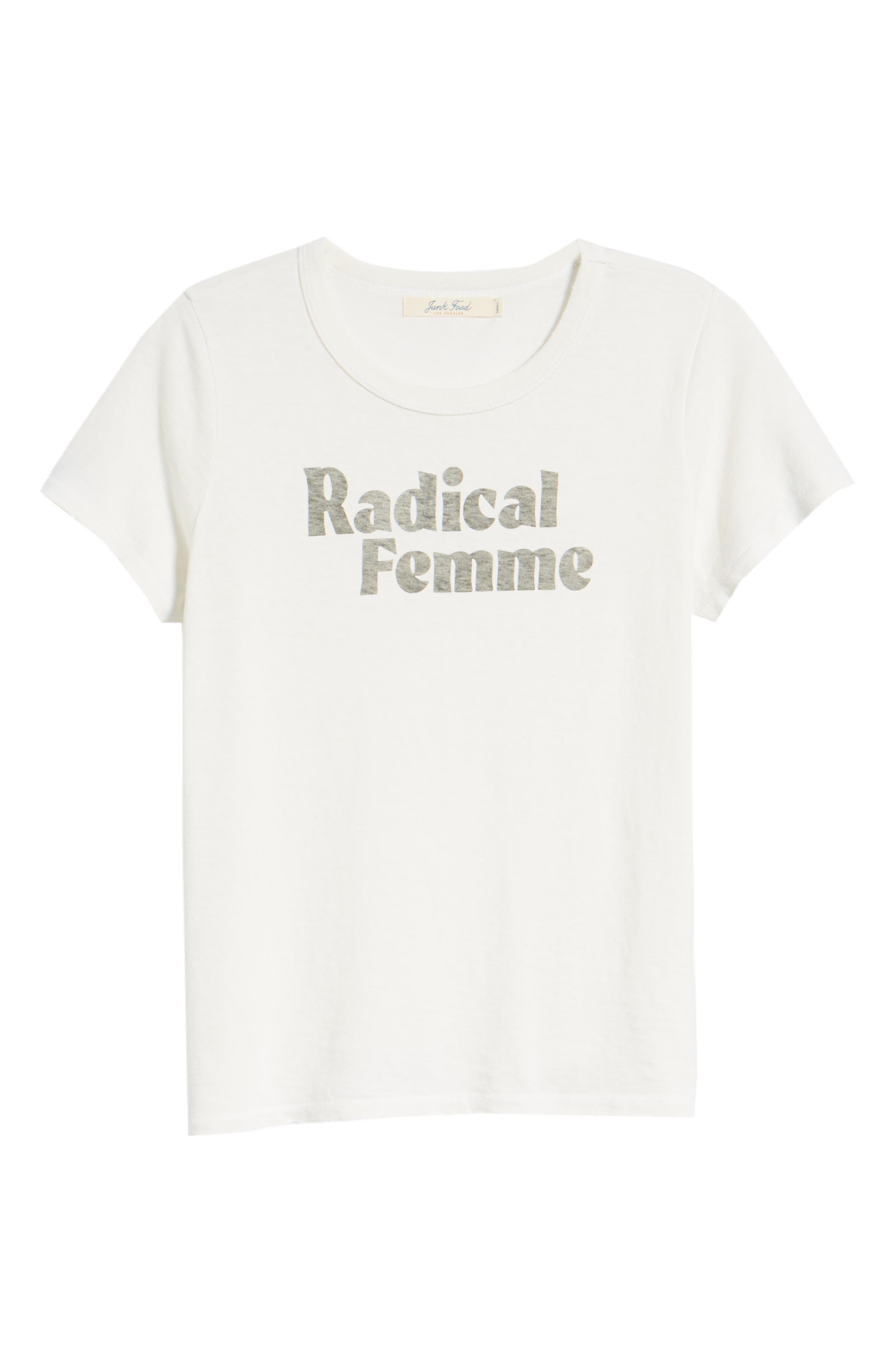 Radical Femme Tee,                             Alternate thumbnail 7, color,                             110