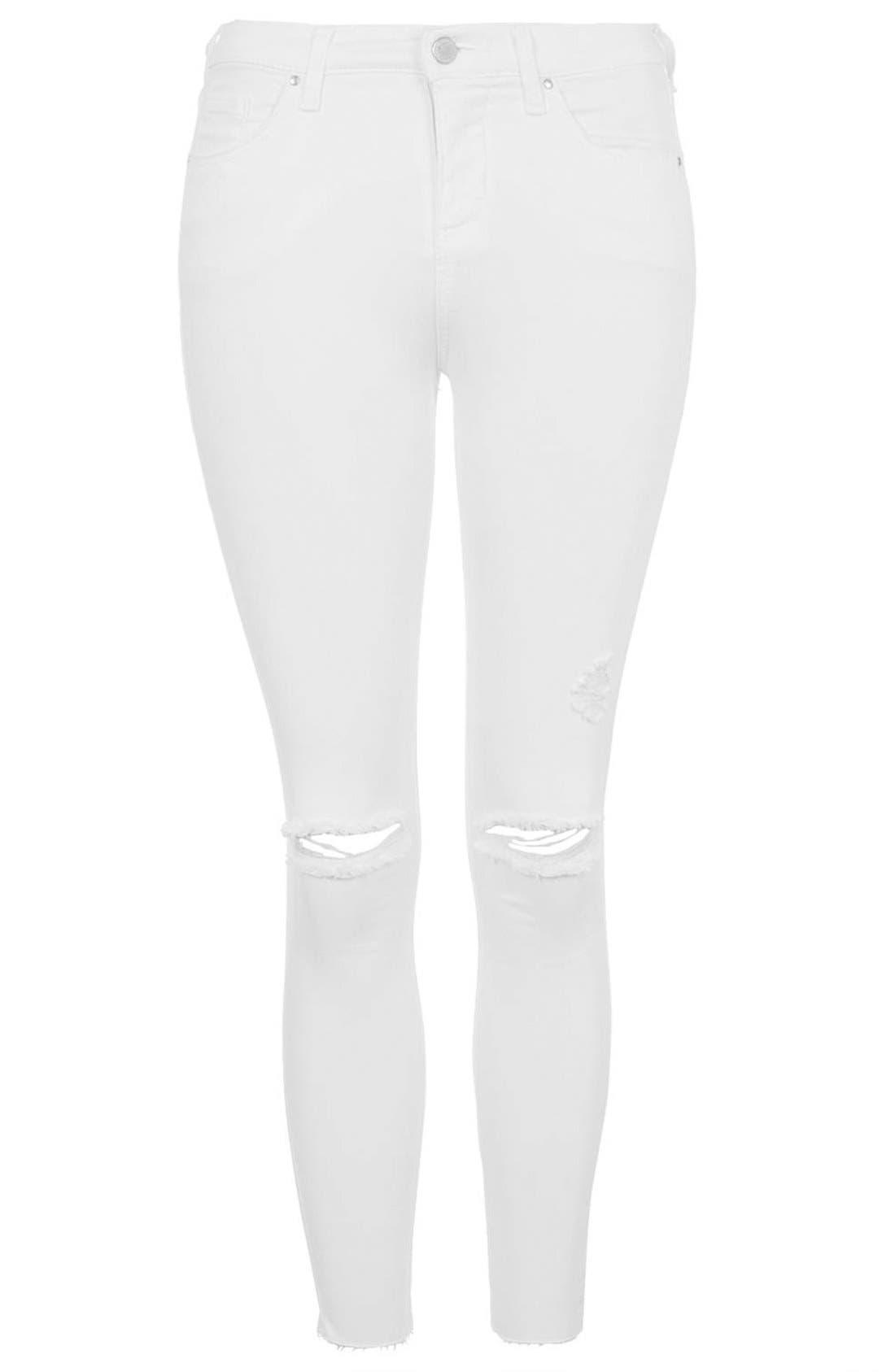 'Leigh' Moto Jeans,                             Alternate thumbnail 3, color,