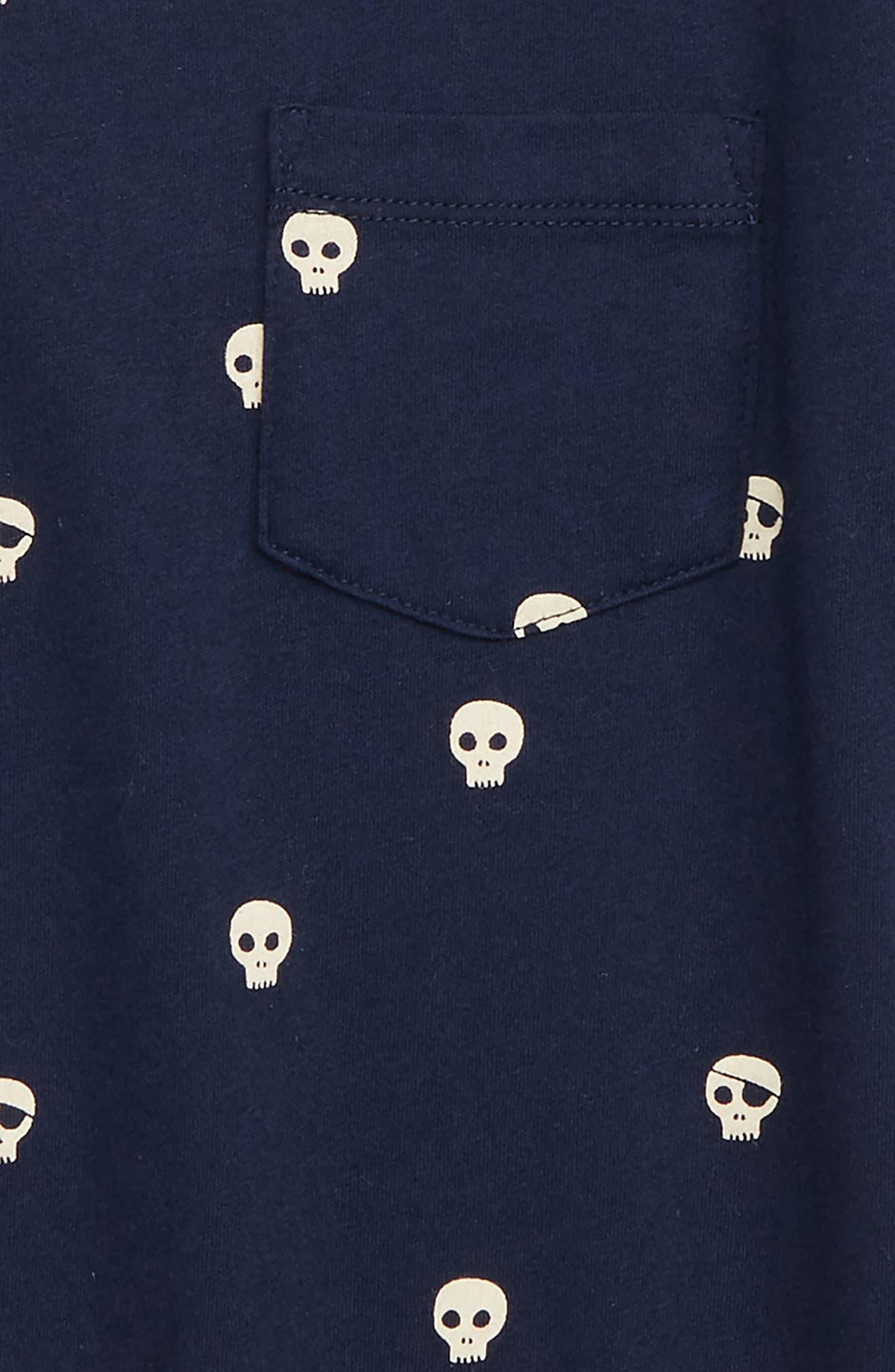 Pocket Glow in the Dark T-Shirt,                             Alternate thumbnail 2, color,                             NAVY