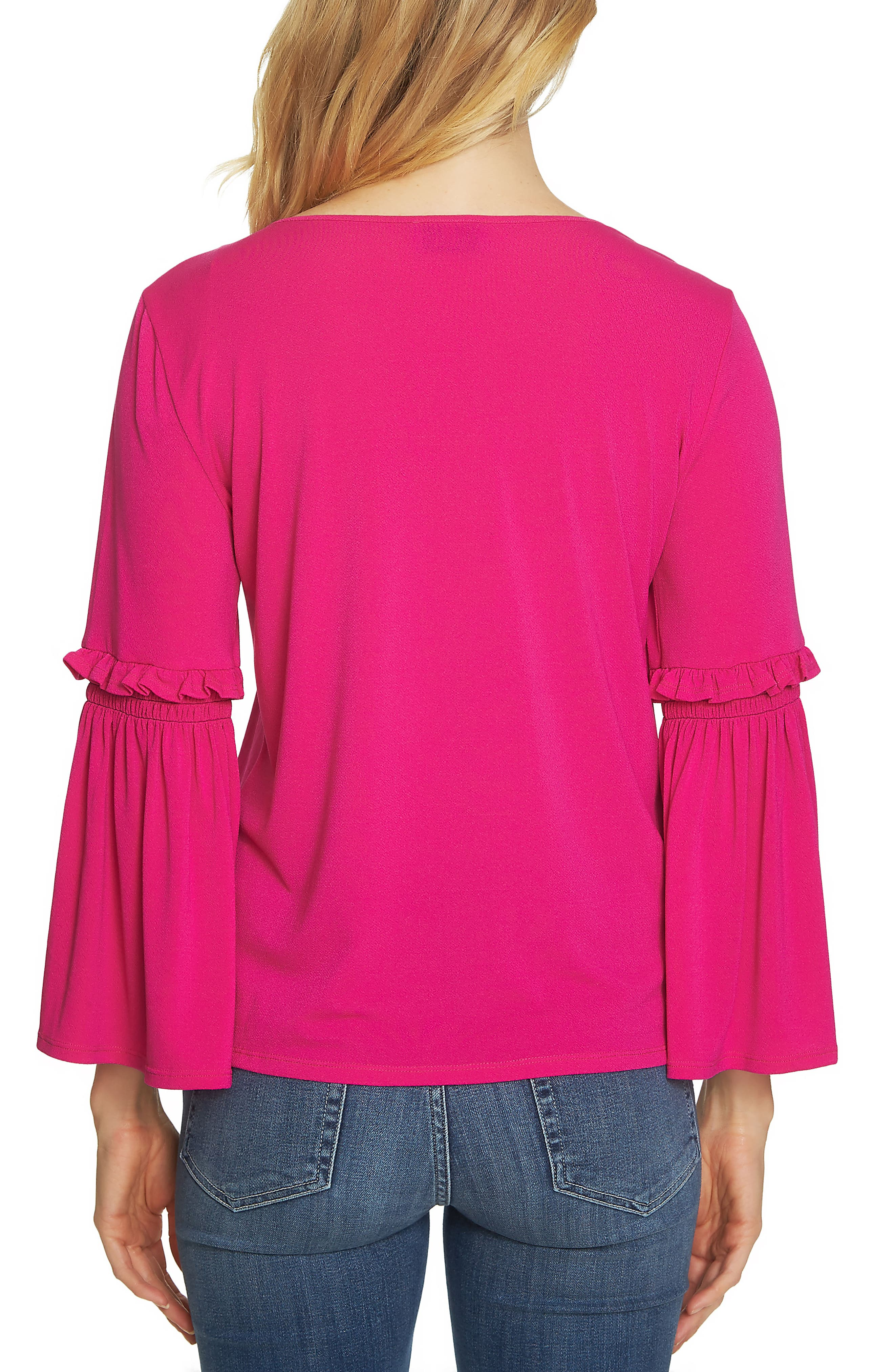 Bell Sleeve Knit Top,                             Alternate thumbnail 6, color,
