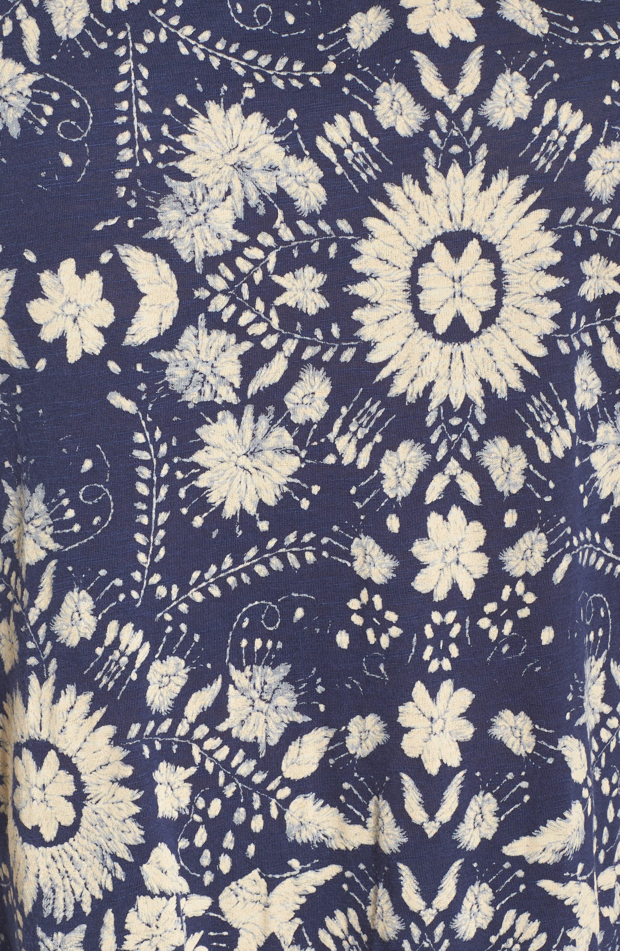 Floral Cold Shoulder Top,                             Alternate thumbnail 6, color,                             460