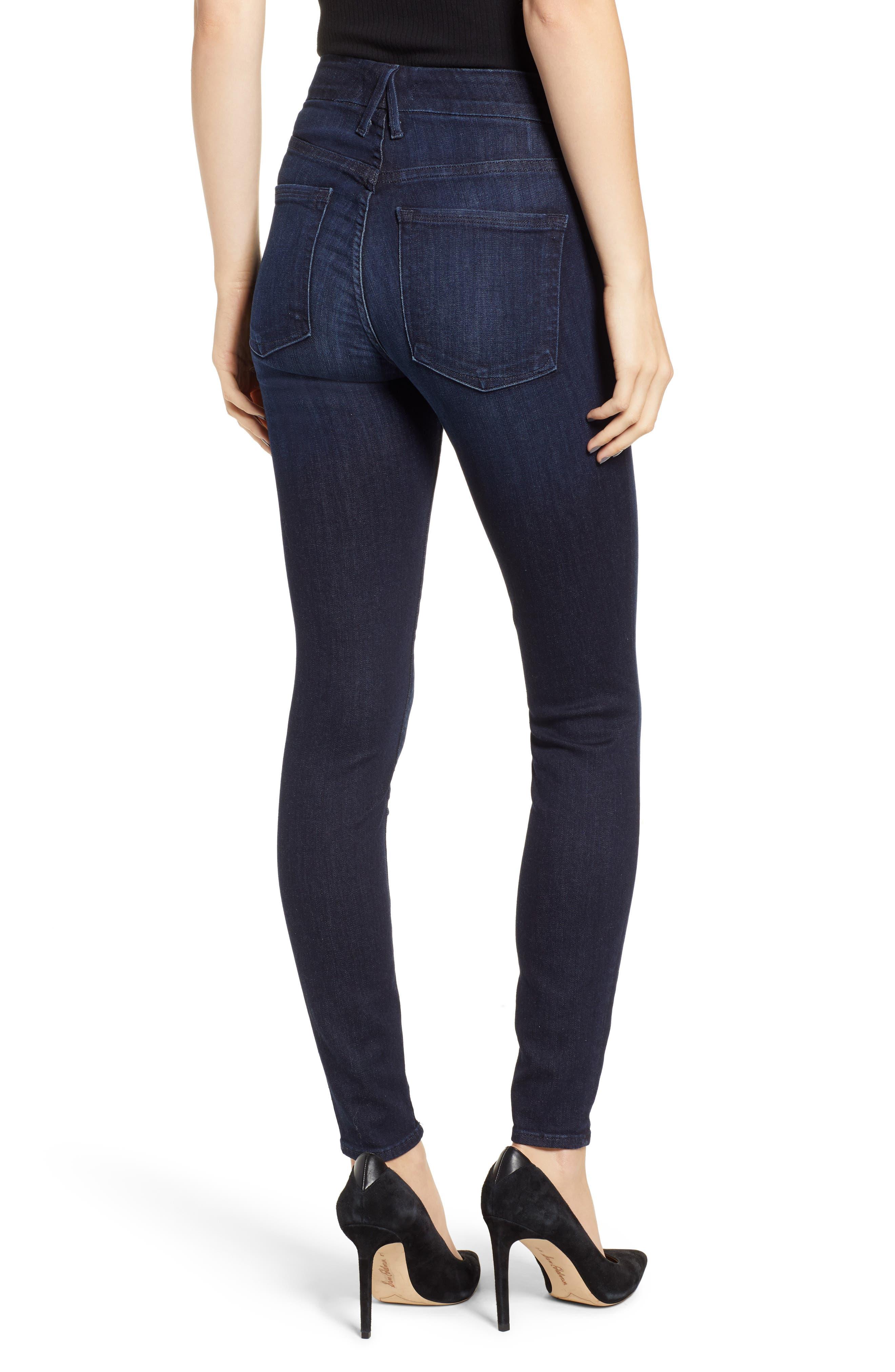 GOOD AMERICAN,                             Good Legs High Waist Skinny Jeans,                             Alternate thumbnail 3, color,                             BLUE224