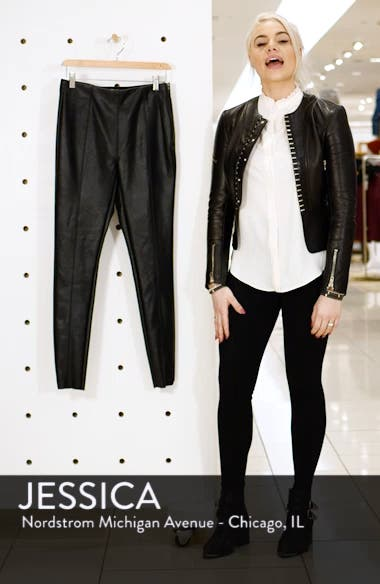 Percy Faux Leather Skinny Pants, sales video thumbnail