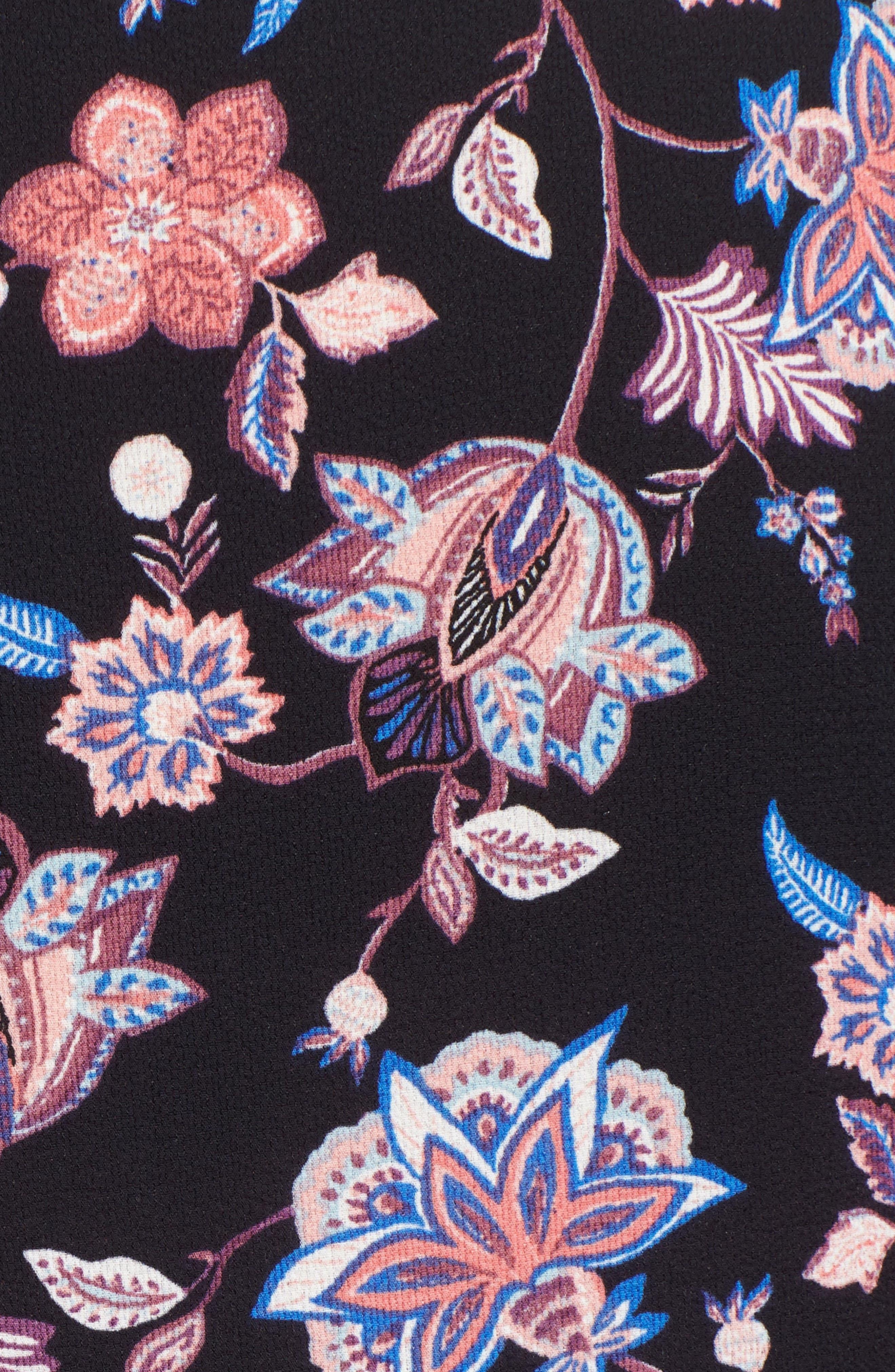 Print Kimono,                             Alternate thumbnail 5, color,                             NAVY COMBO