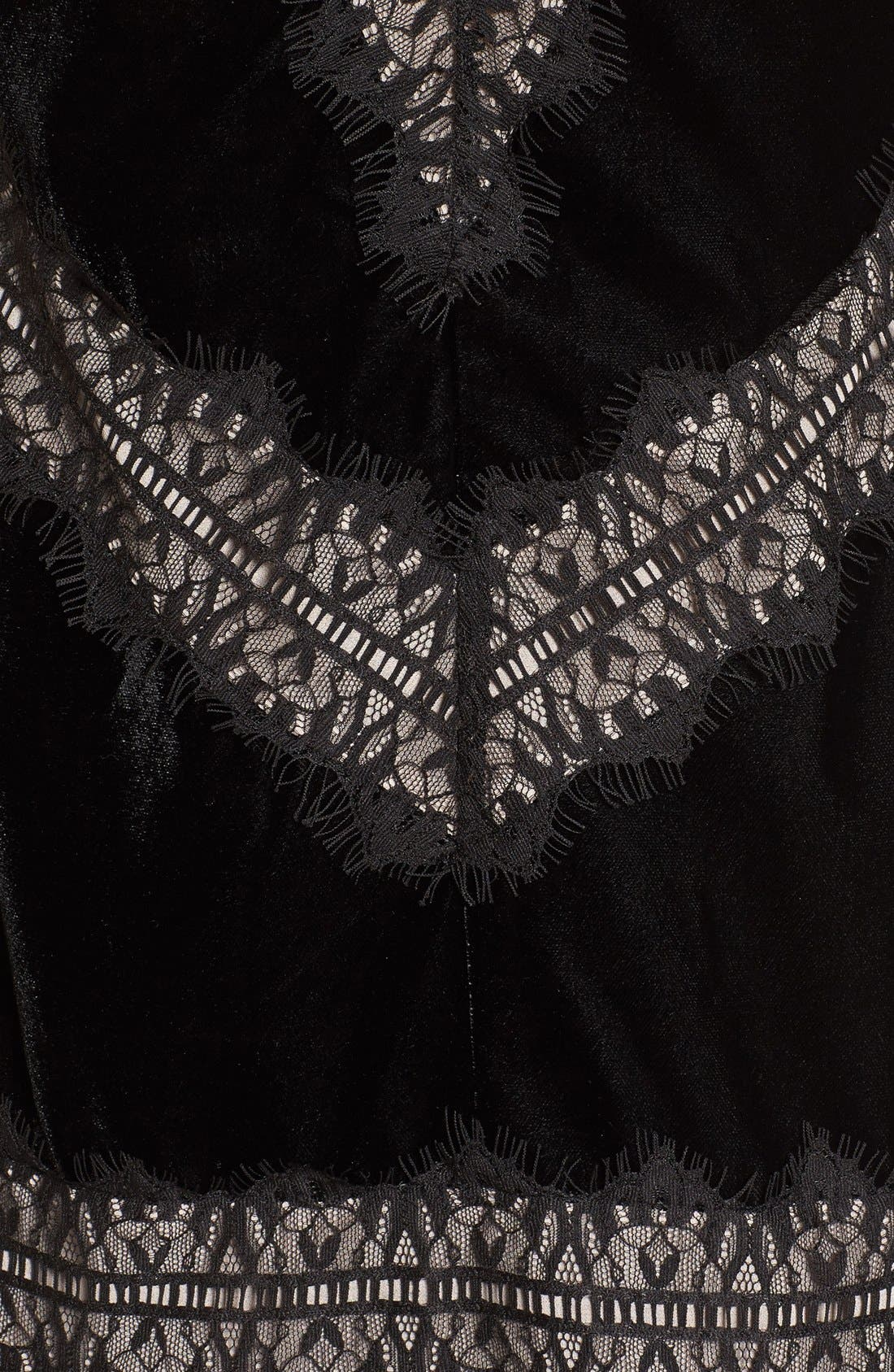 Velvet & Lace Dress,                             Alternate thumbnail 7, color,