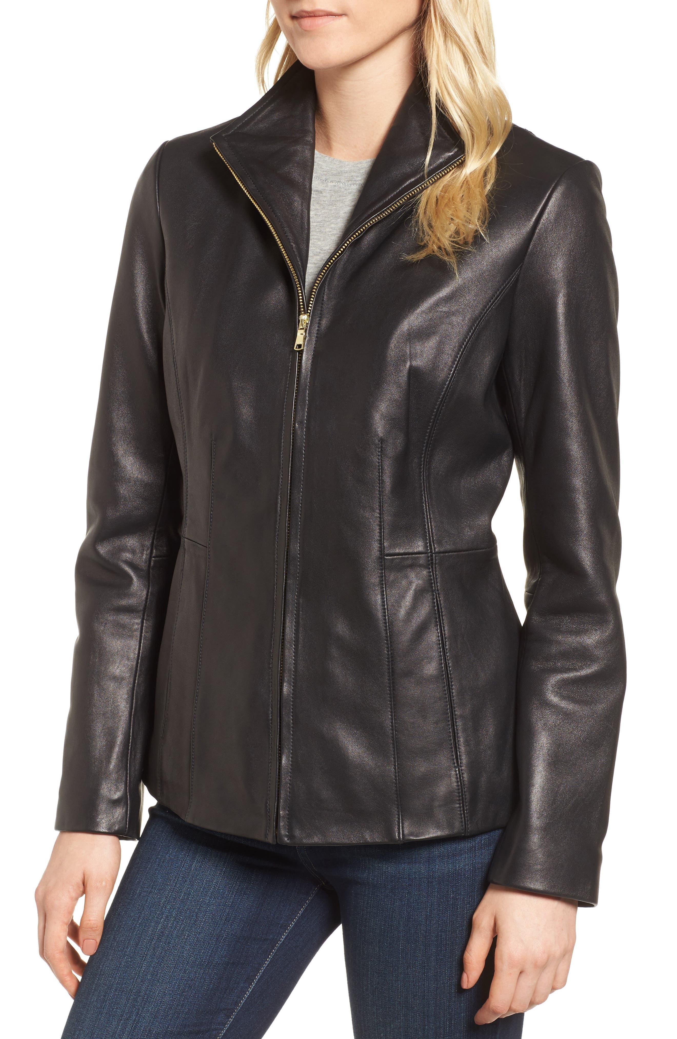Leather Jacket,                             Alternate thumbnail 7, color,
