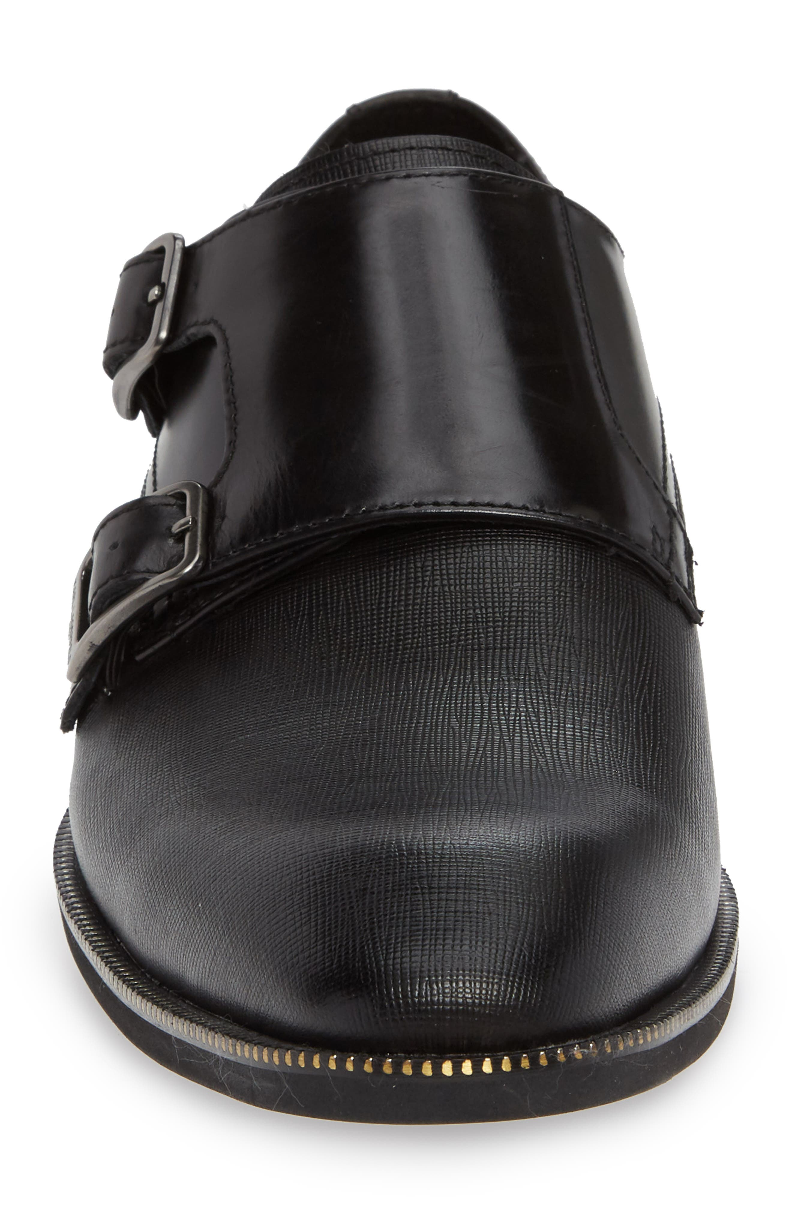 Double Strap Monk Shoe,                             Alternate thumbnail 4, color,                             001
