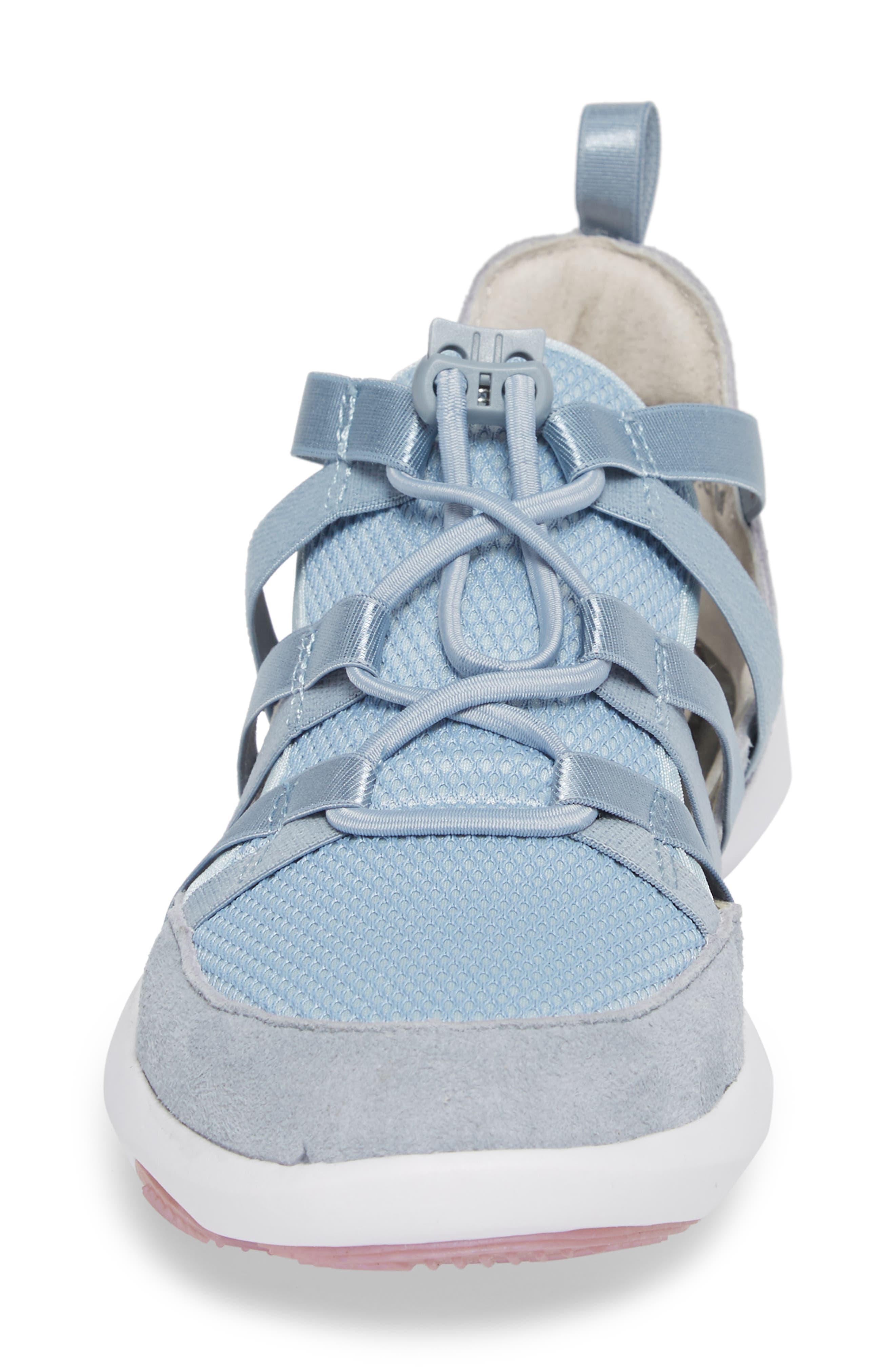Azalea Sneaker,                             Alternate thumbnail 4, color,                             BLUE LEATHER
