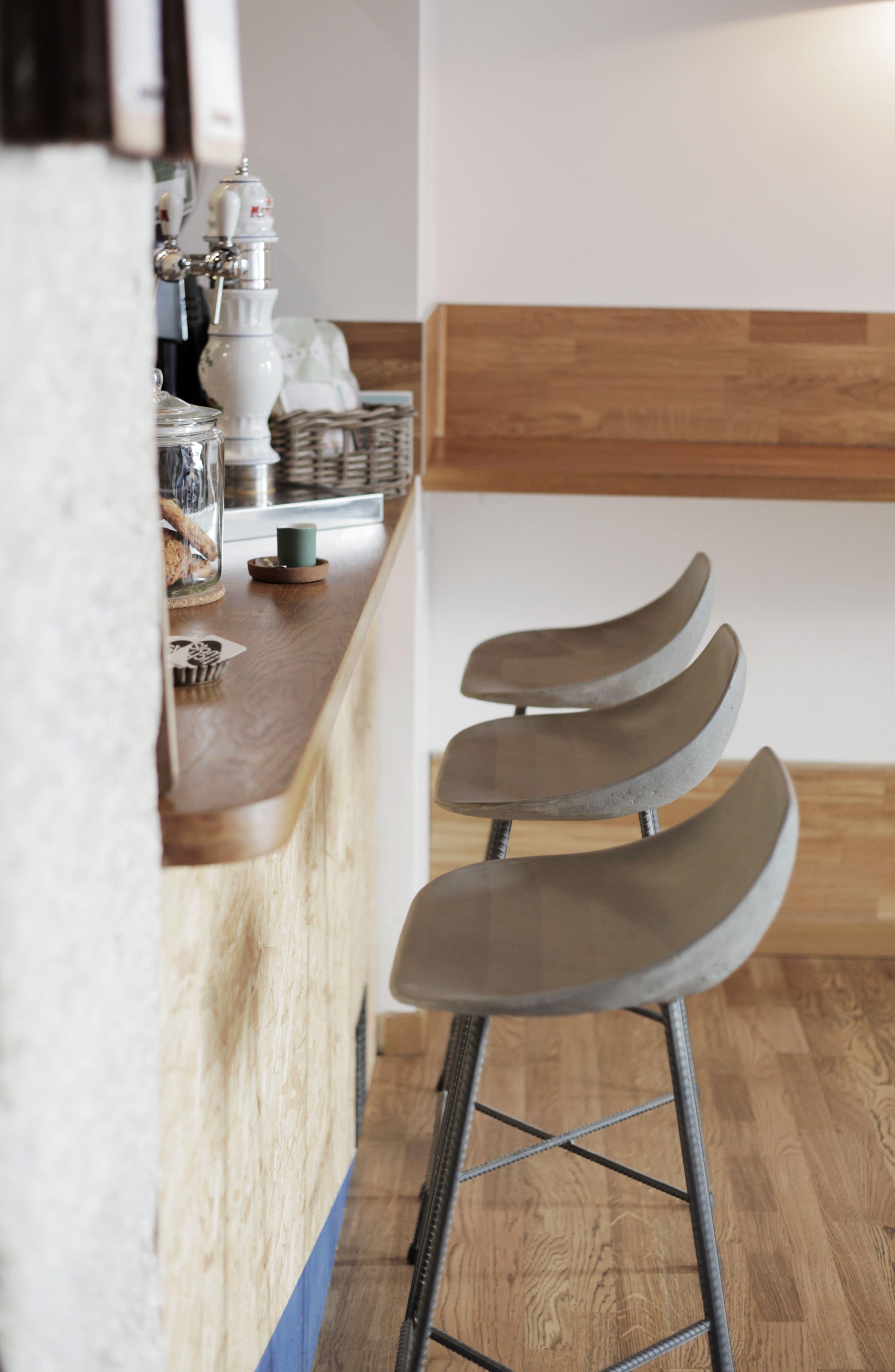 Lyon Béton Hauteville Bar Chair,                             Alternate thumbnail 7, color,                             CEMENT