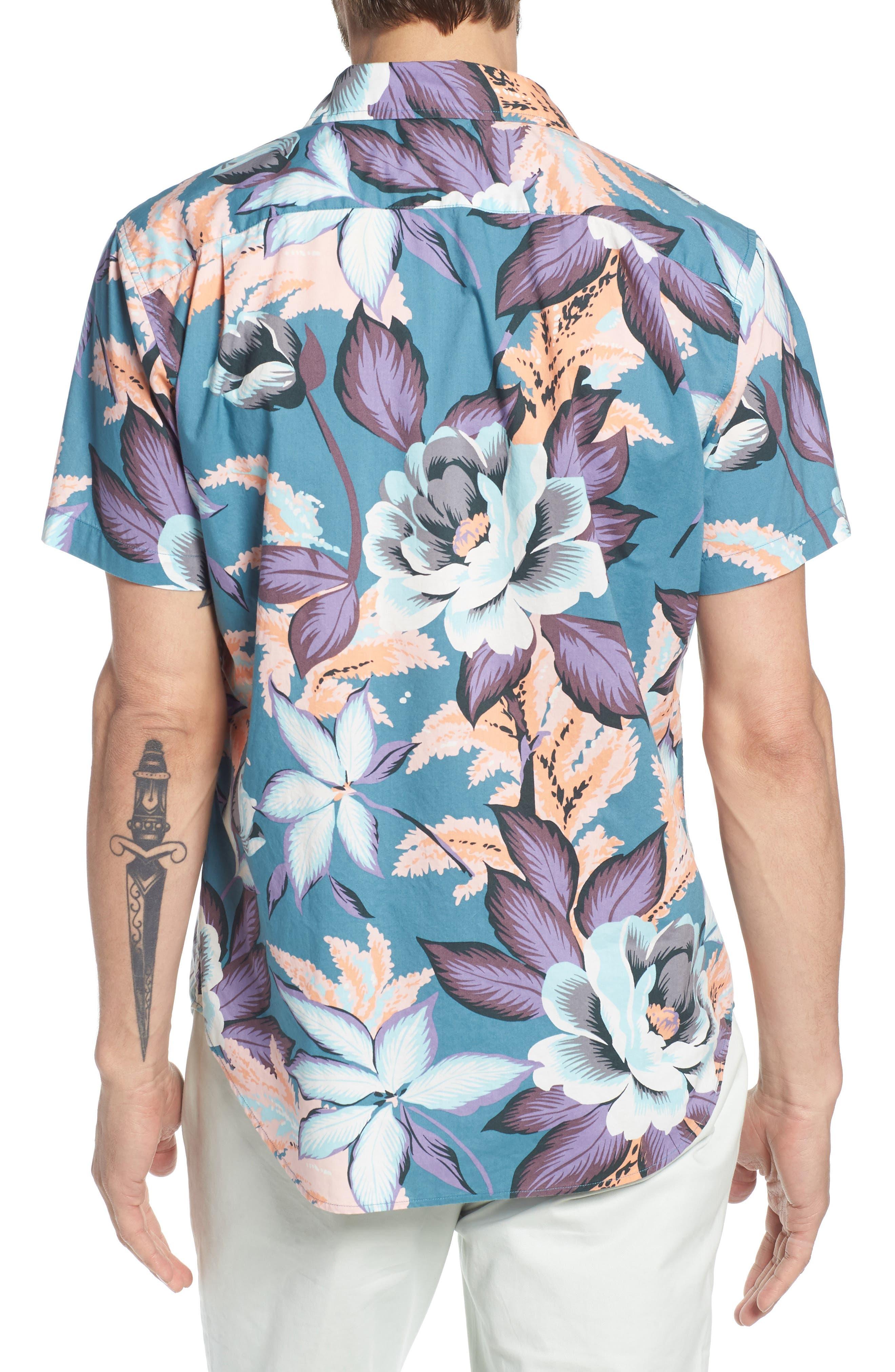 Riviera Slim Fit Floral Print Sport Shirt,                             Alternate thumbnail 2, color,                             400