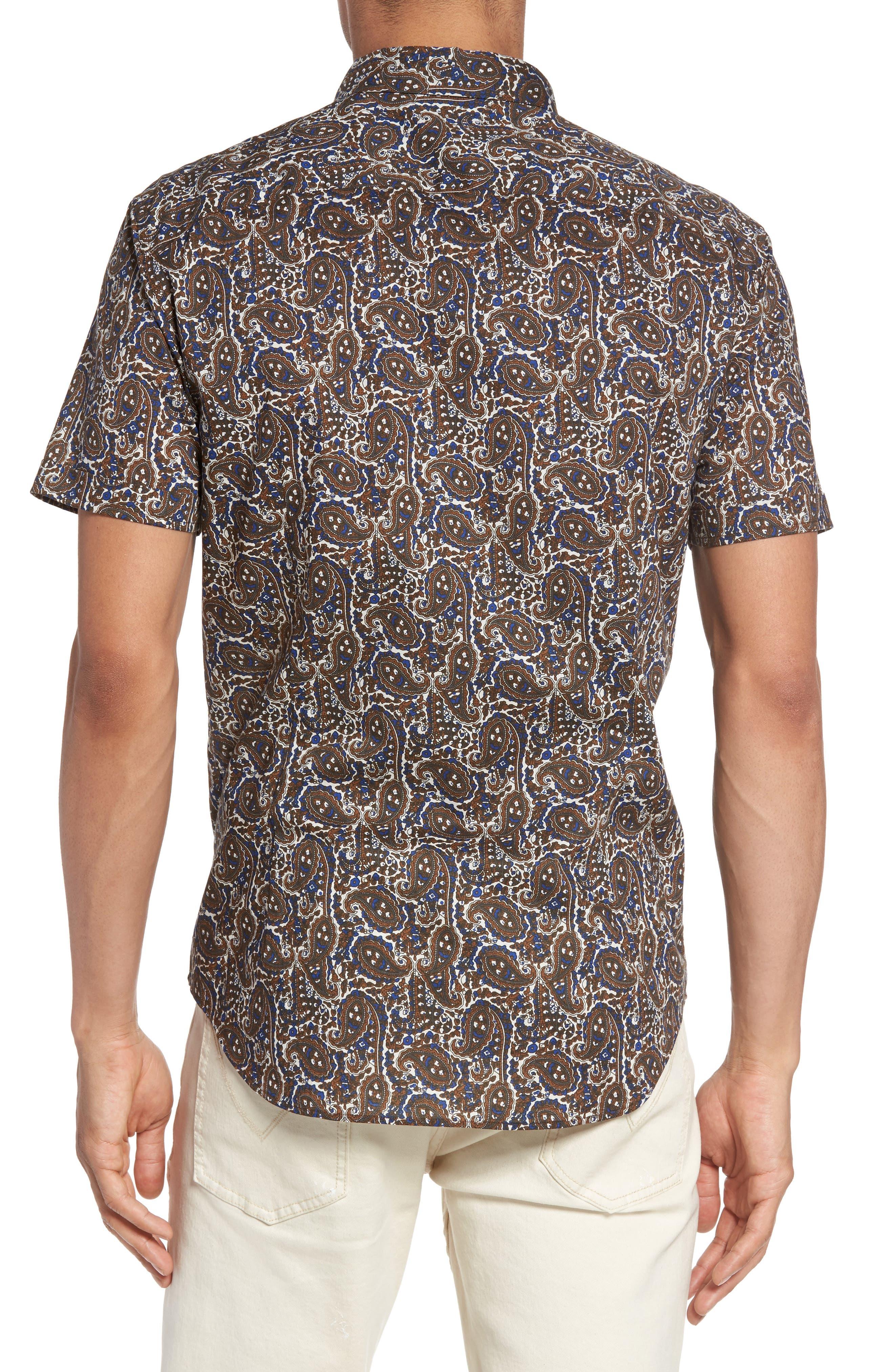 Paisley Trim Fit Sport Shirt,                             Alternate thumbnail 2, color,                             204