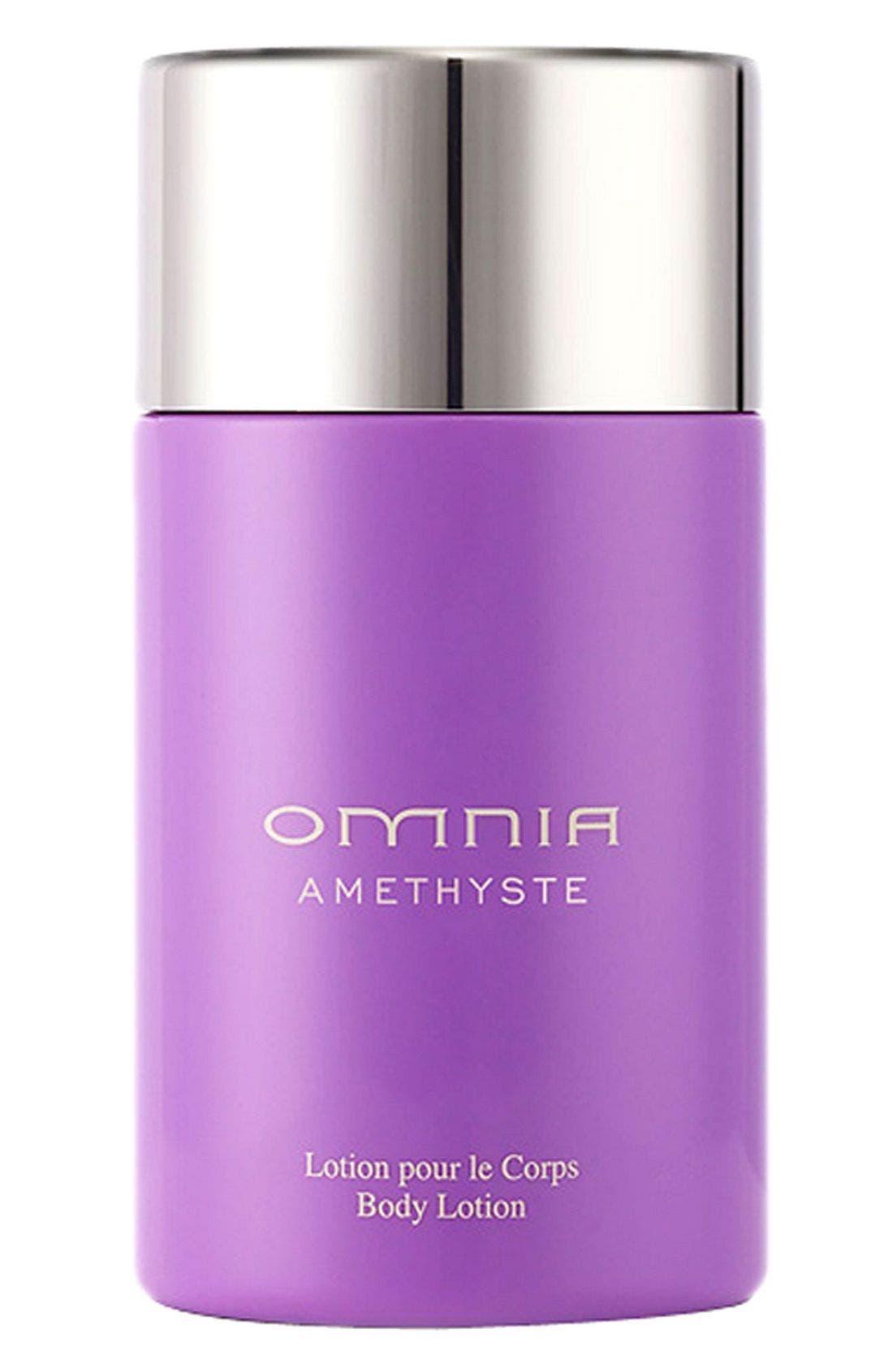 BVLGARI,                             'Omnia Amethyste' Body Lotion,                             Main thumbnail 1, color,                             000
