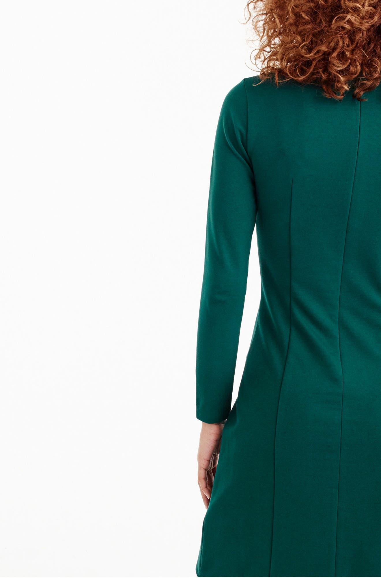 Storm Ponte Knit Dress,                             Alternate thumbnail 8, color,