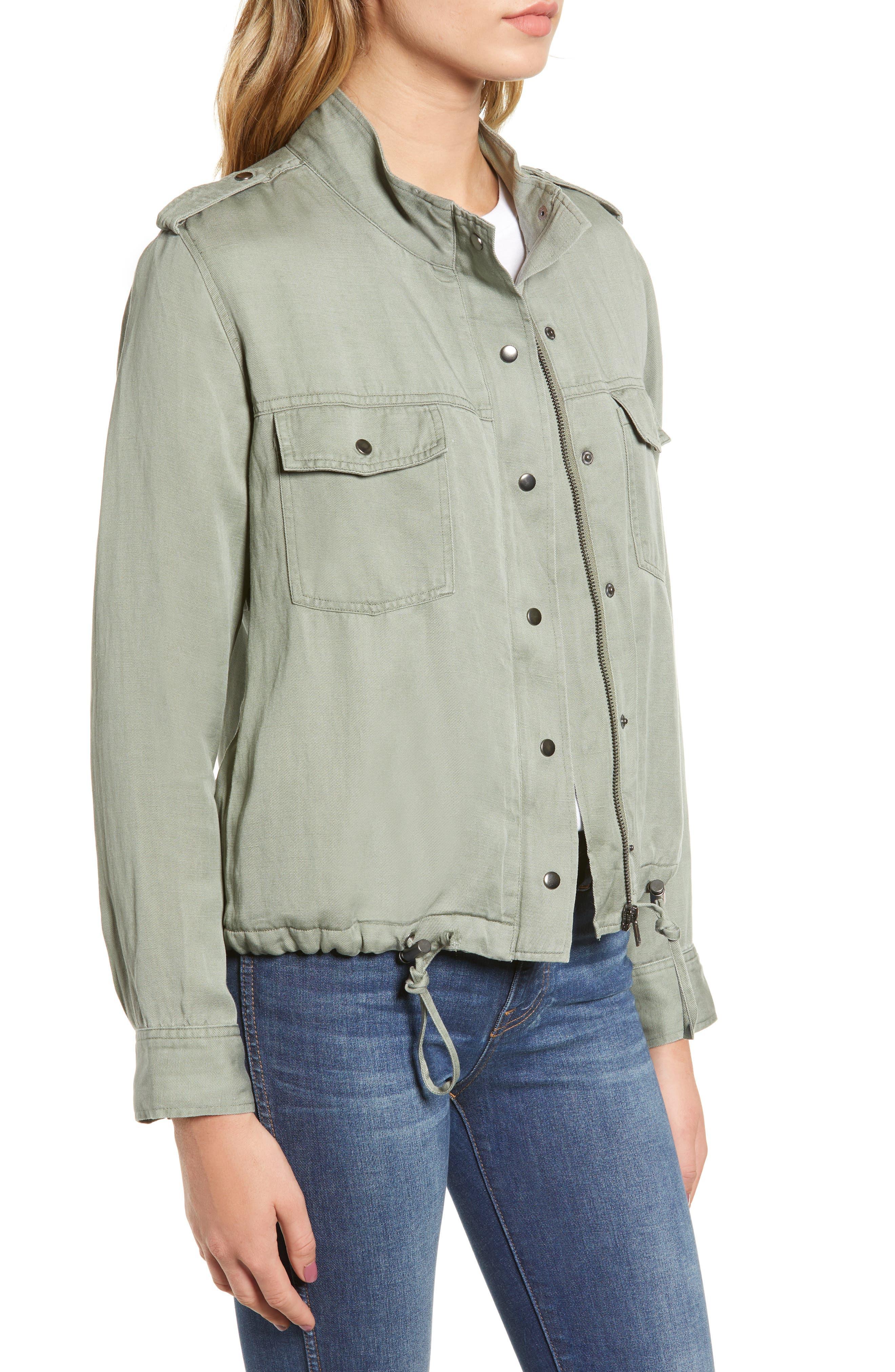 Collins Military Jacket,                             Alternate thumbnail 3, color,                             SAGE