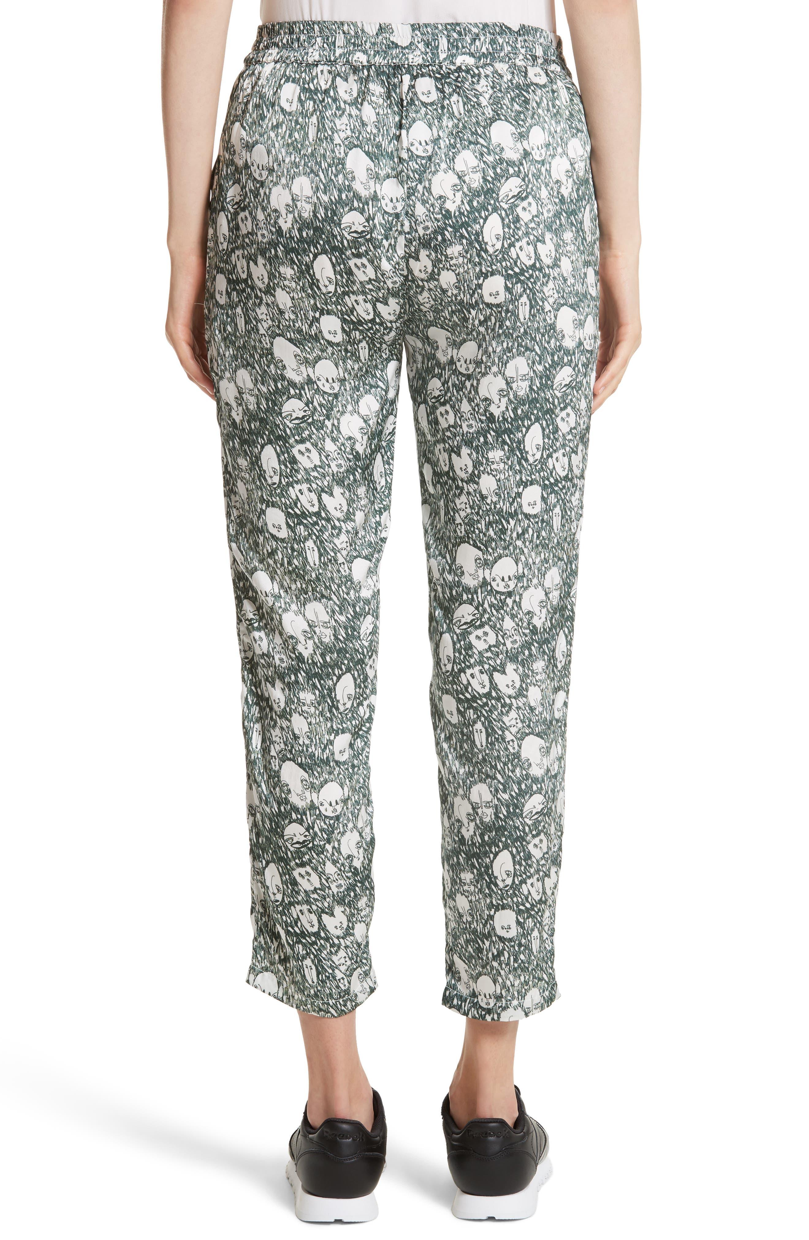 Angus Crop Silk Lounge Pants,                             Alternate thumbnail 2, color,                             900