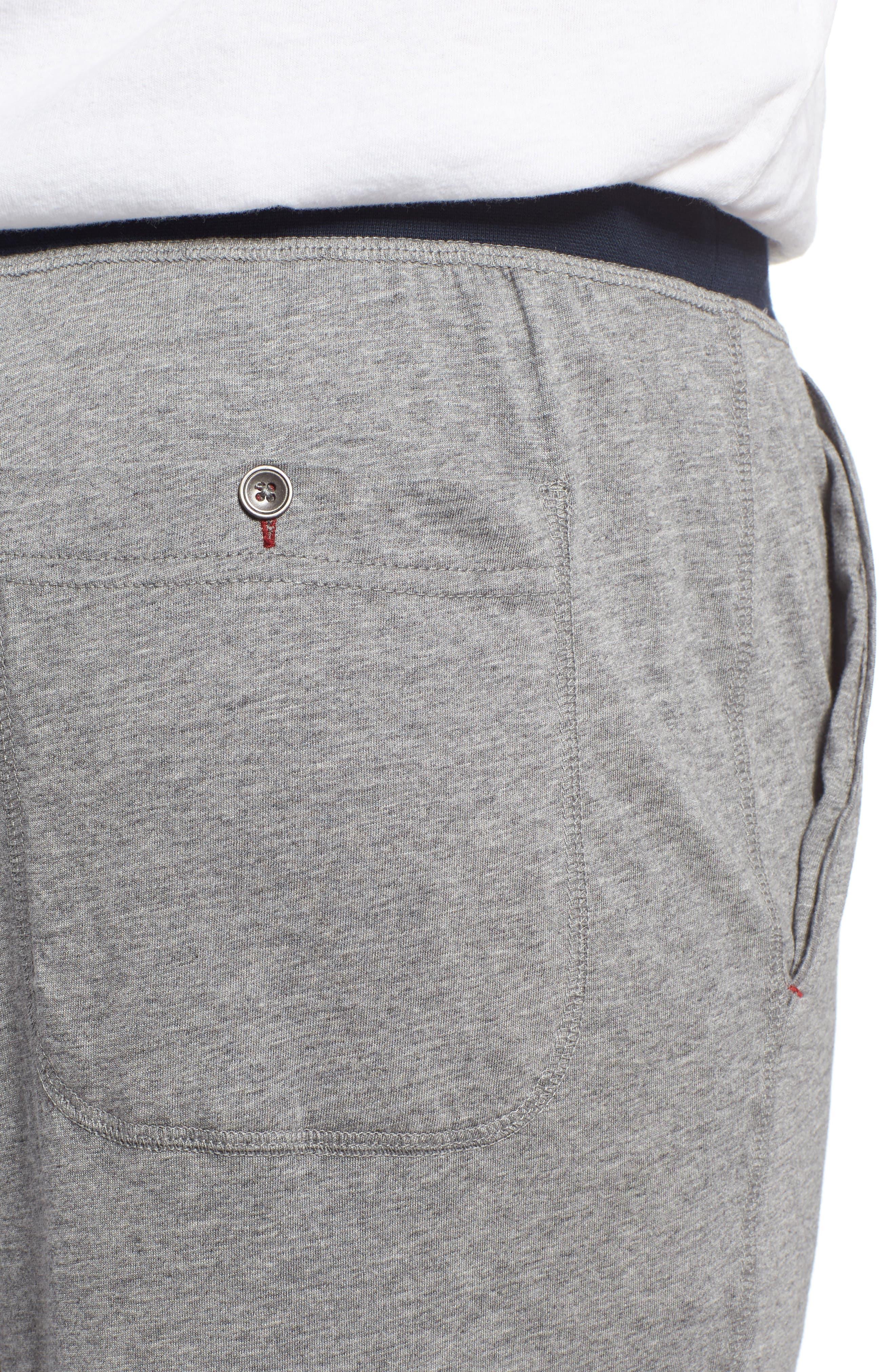 Pima Cotton & Modal Lounge Pants,                             Alternate thumbnail 4, color,                             033