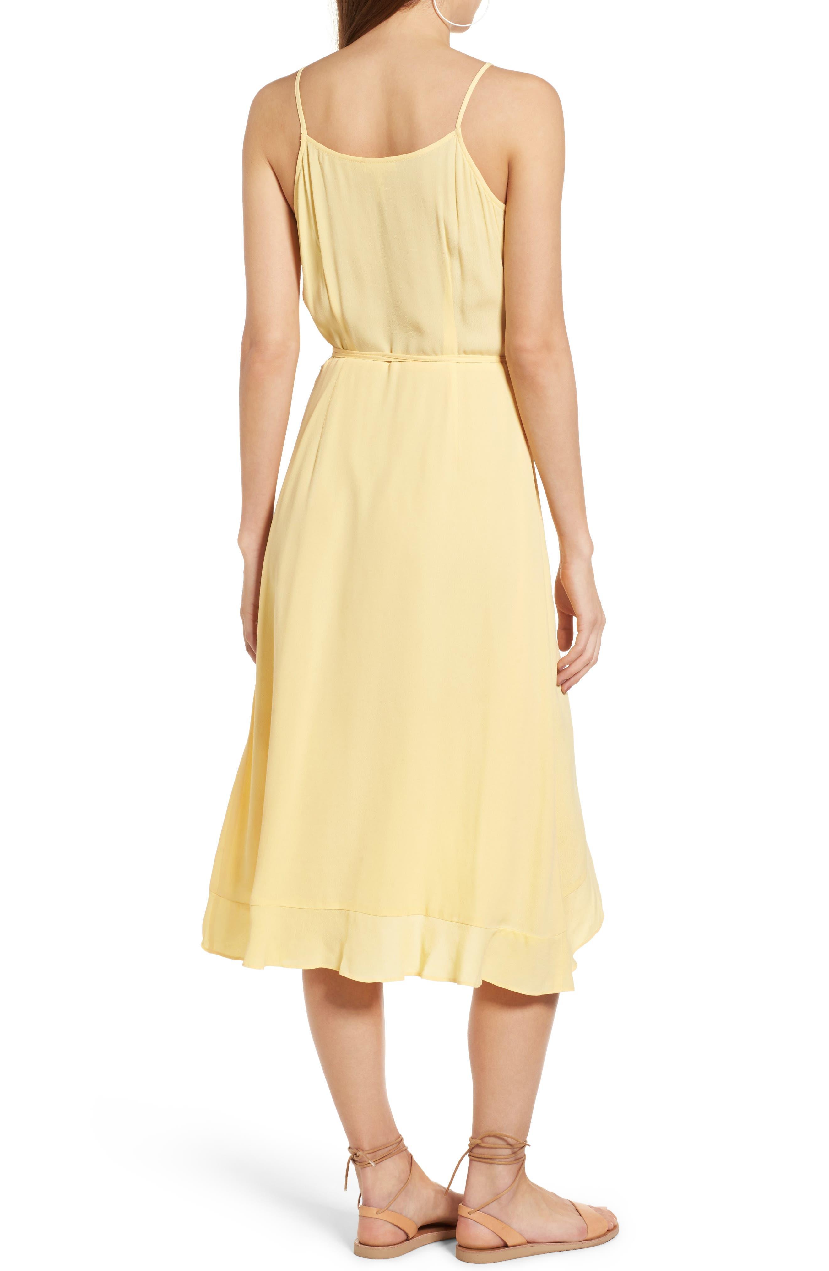 Flounce Wrap Midi Dress,                             Alternate thumbnail 9, color,