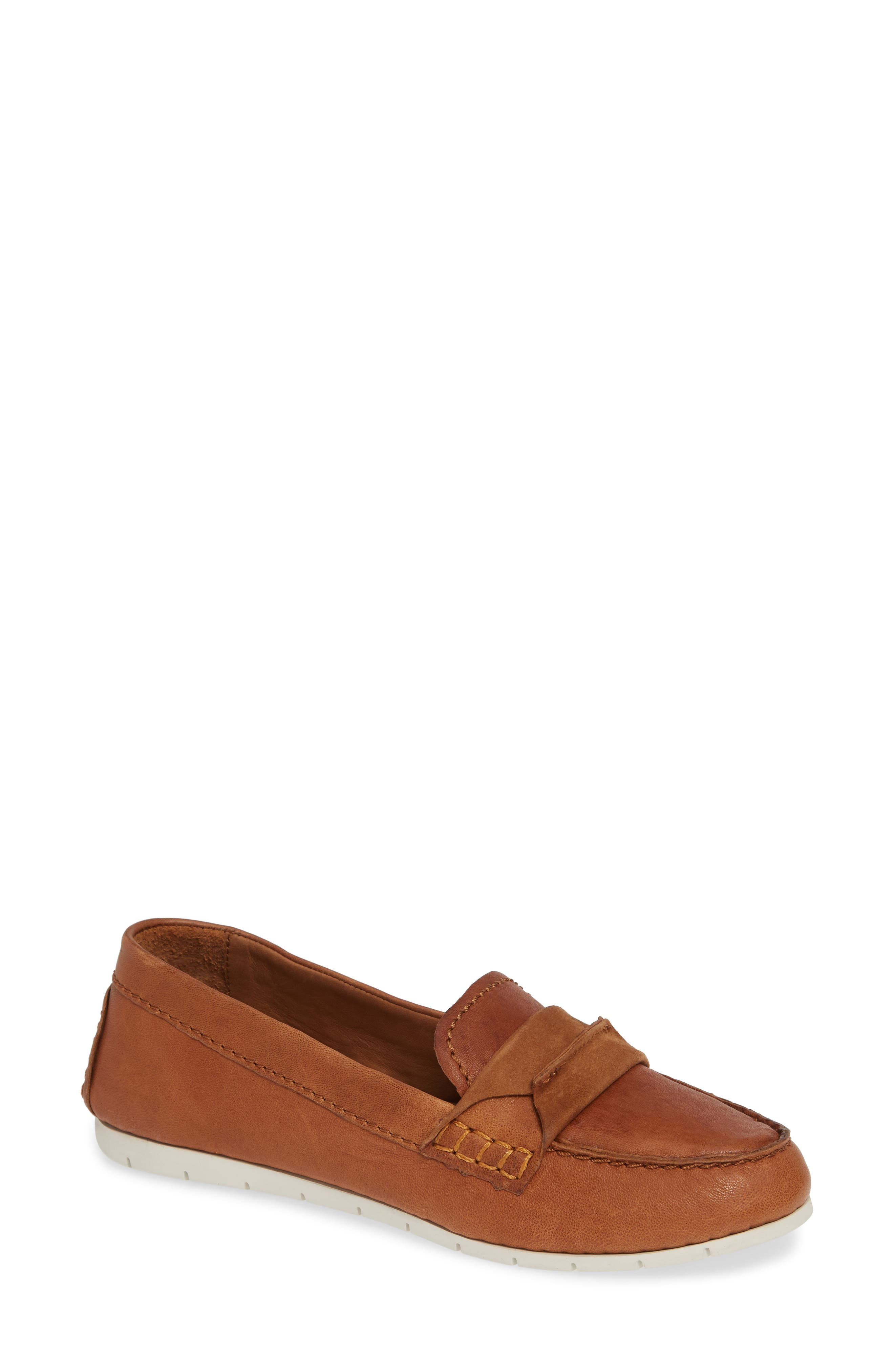 Frye Sedona Top Seam Moccasin Loafer, Brown