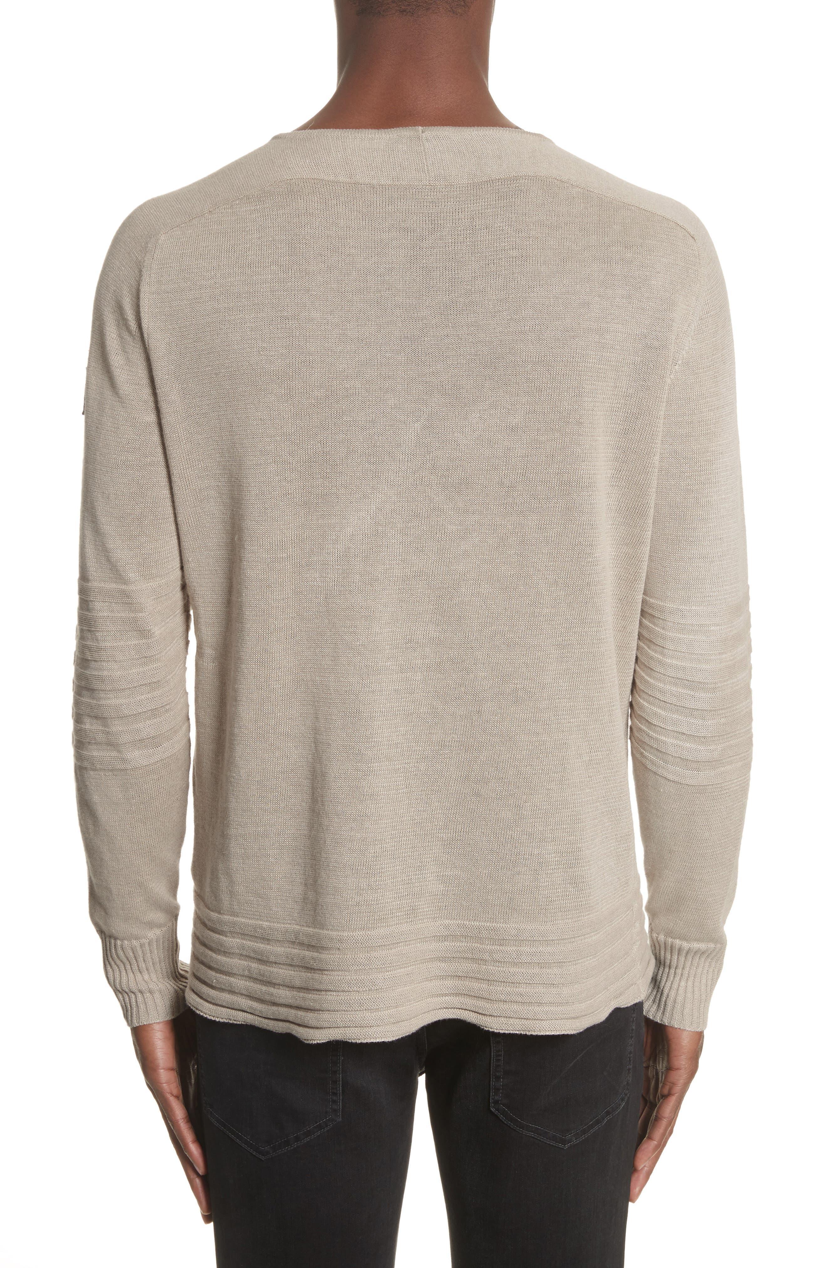 Exford Linen Crewneck Sweater,                             Alternate thumbnail 3, color,