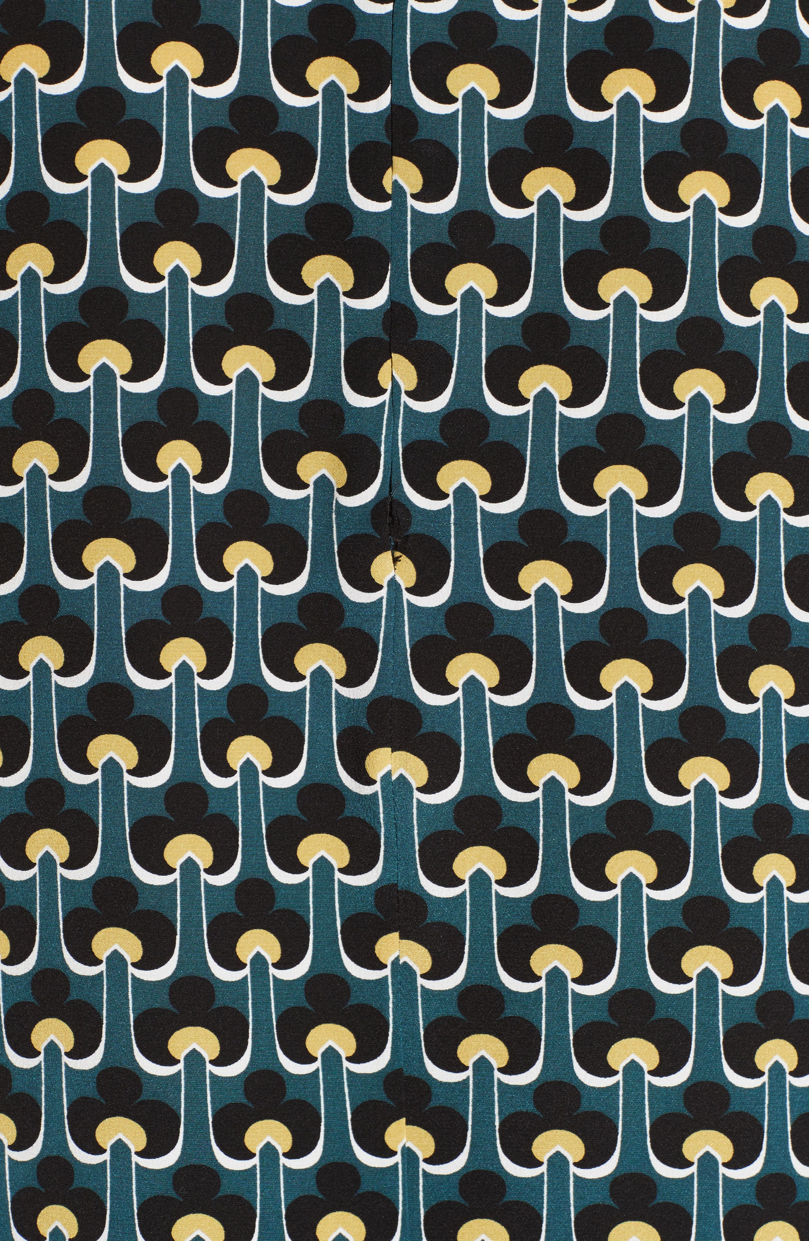 Print Silk Ruffle Top,                             Alternate thumbnail 5, color,                             400