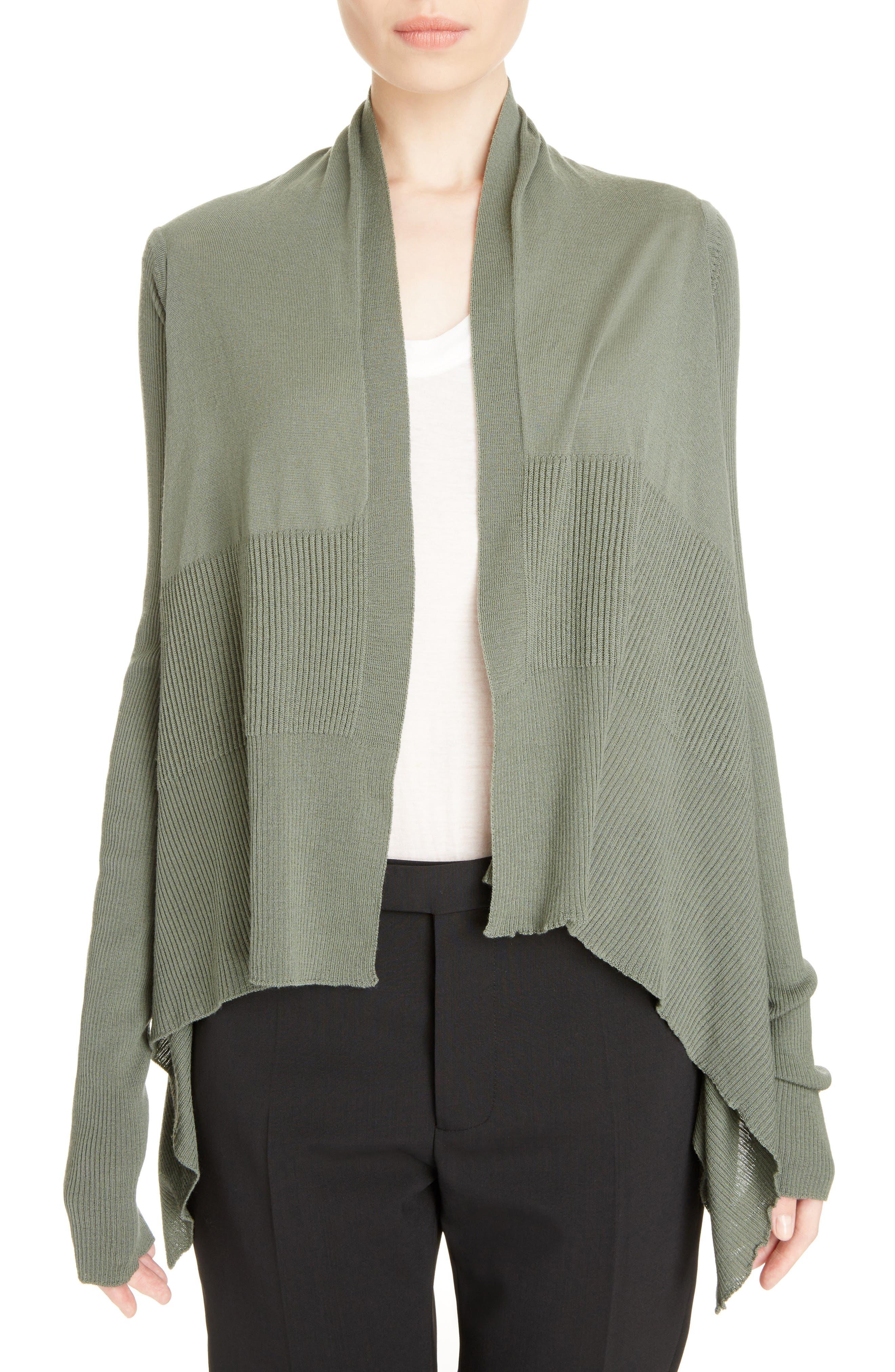 Merino Wool Drape Crop Cardigan,                         Main,                         color,